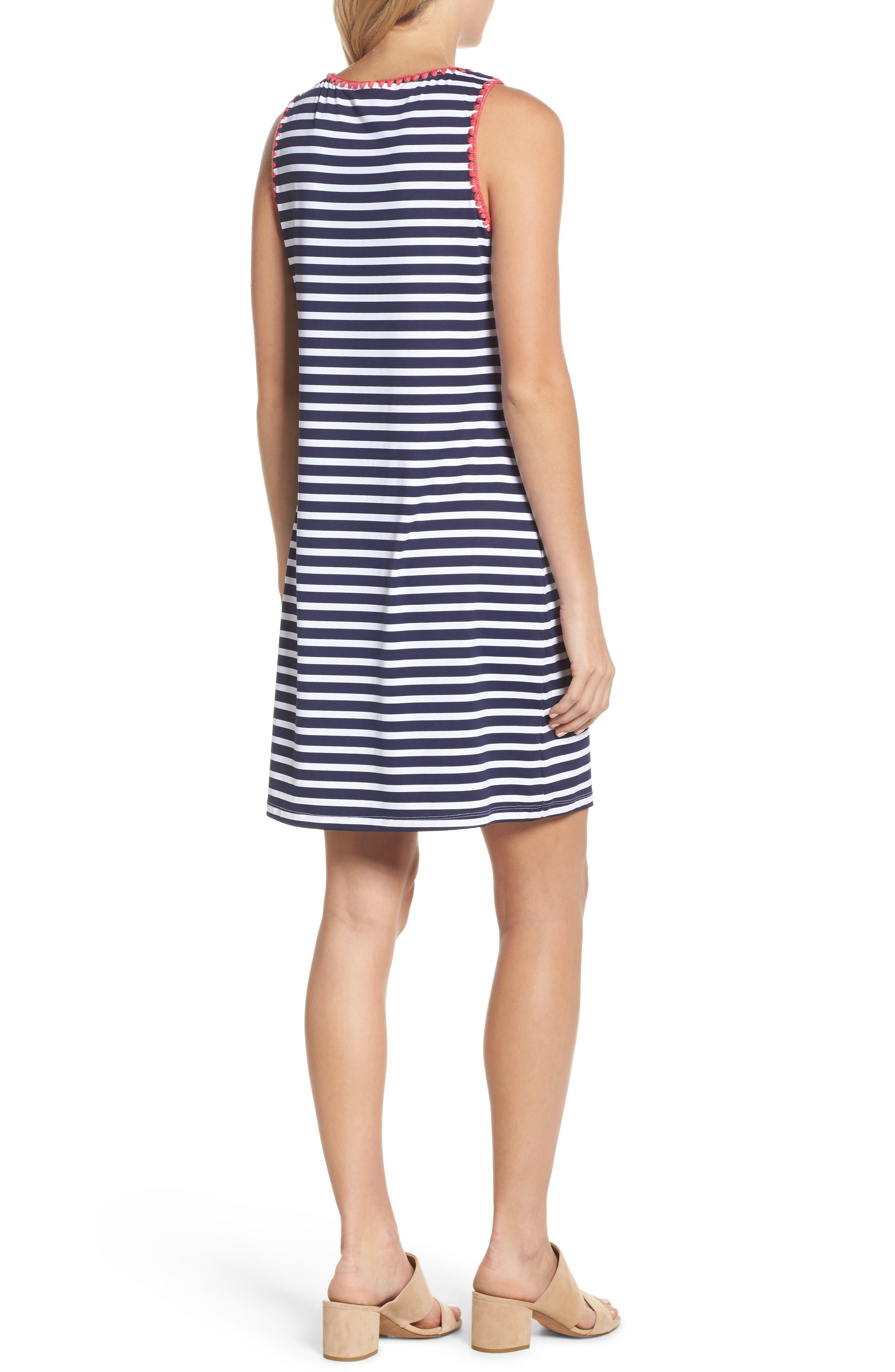 Breton Stripe Cover-Up Dress,                             Alternate thumbnail 2, color,                             MARE NAVY/ WHITE
