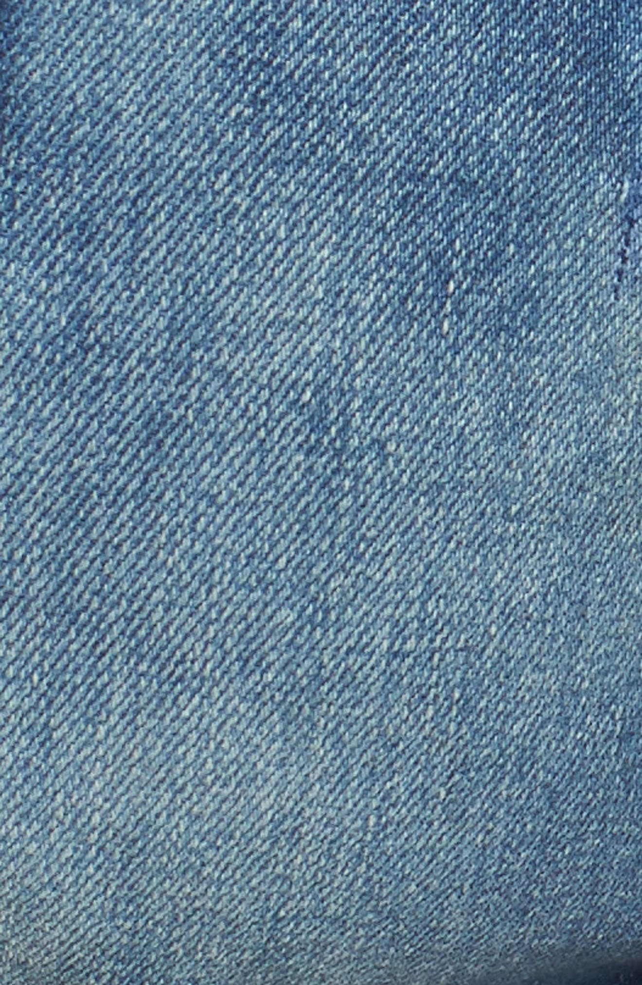 Cuffed Denim Shorts,                             Alternate thumbnail 6, color,