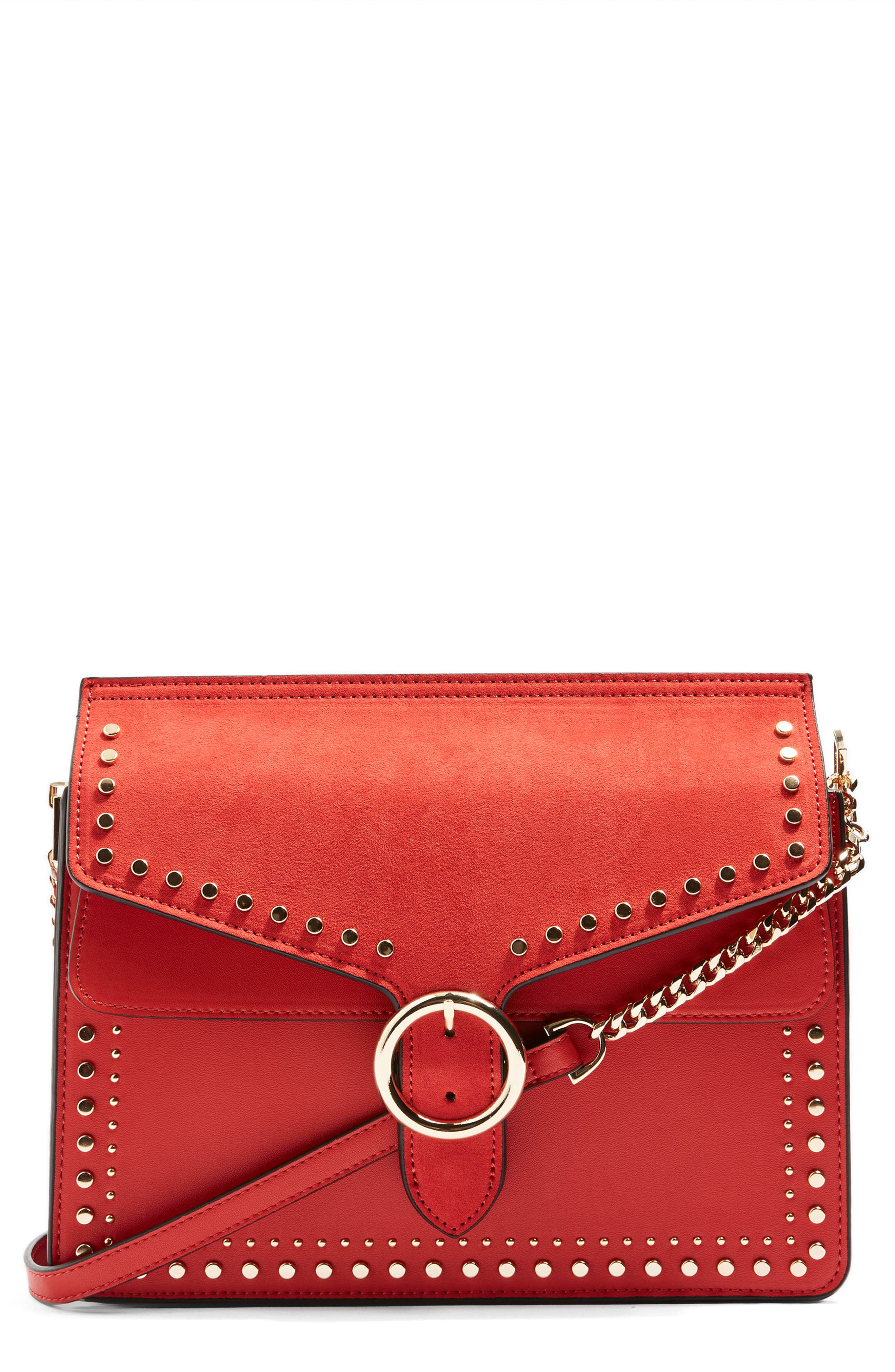 Peony Studded Shoulder Bag,                             Main thumbnail 4, color,