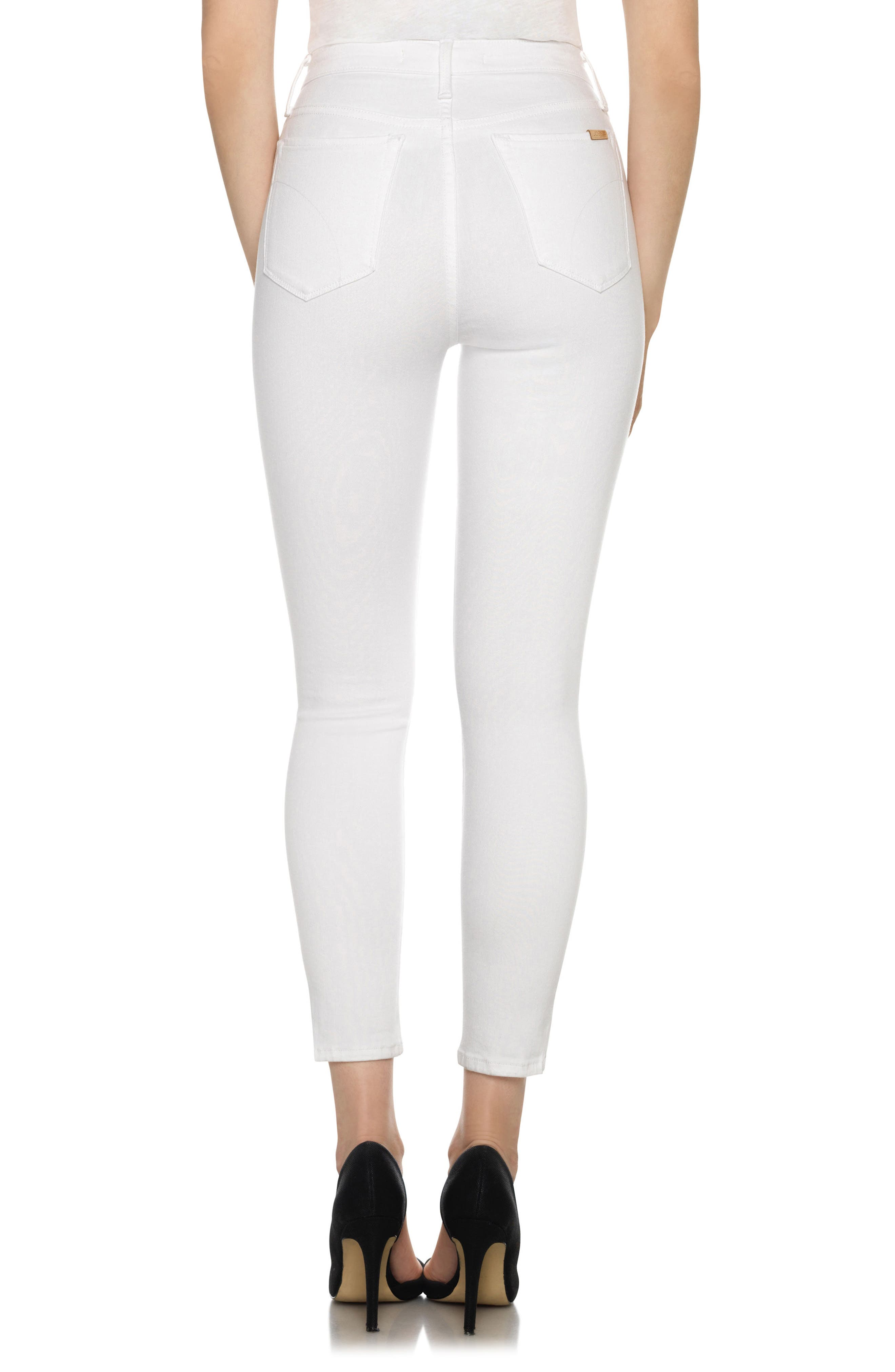 Bella High Waist Crop Skinny Jeans,                             Alternate thumbnail 2, color,                             120