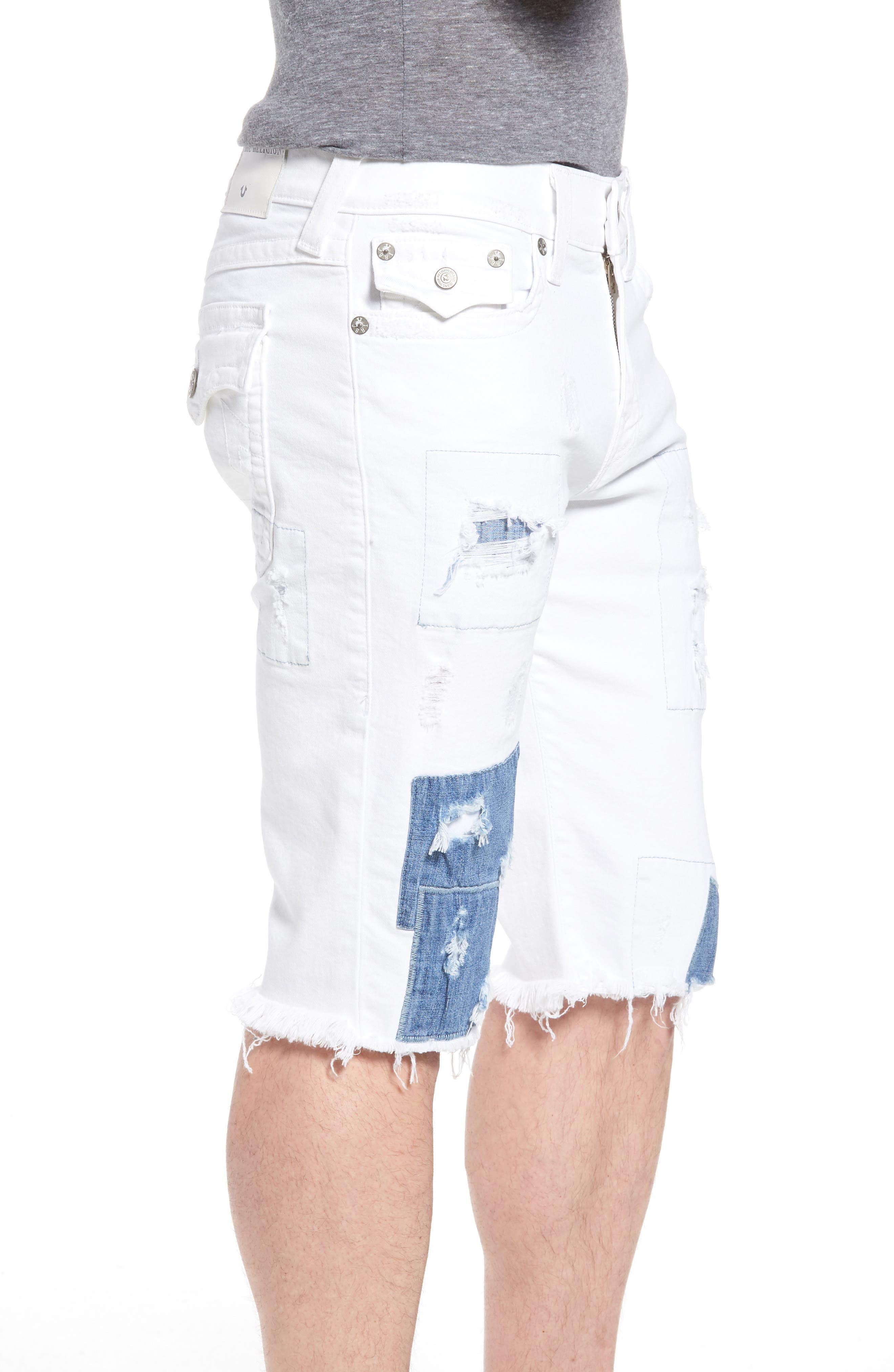 Ricky Relaxed Fit Denim Shorts,                             Alternate thumbnail 3, color,                             401