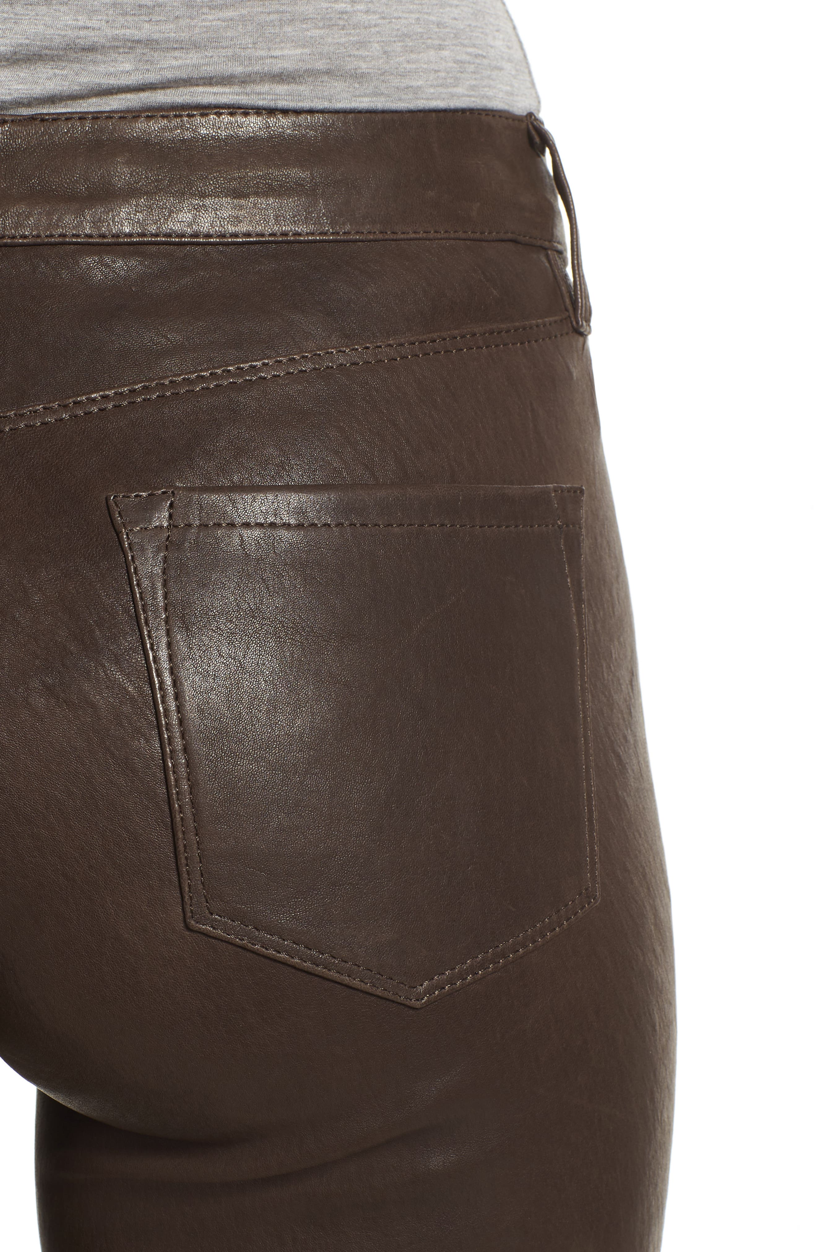 '8001' Lambskin Leather Pants,                             Alternate thumbnail 64, color,