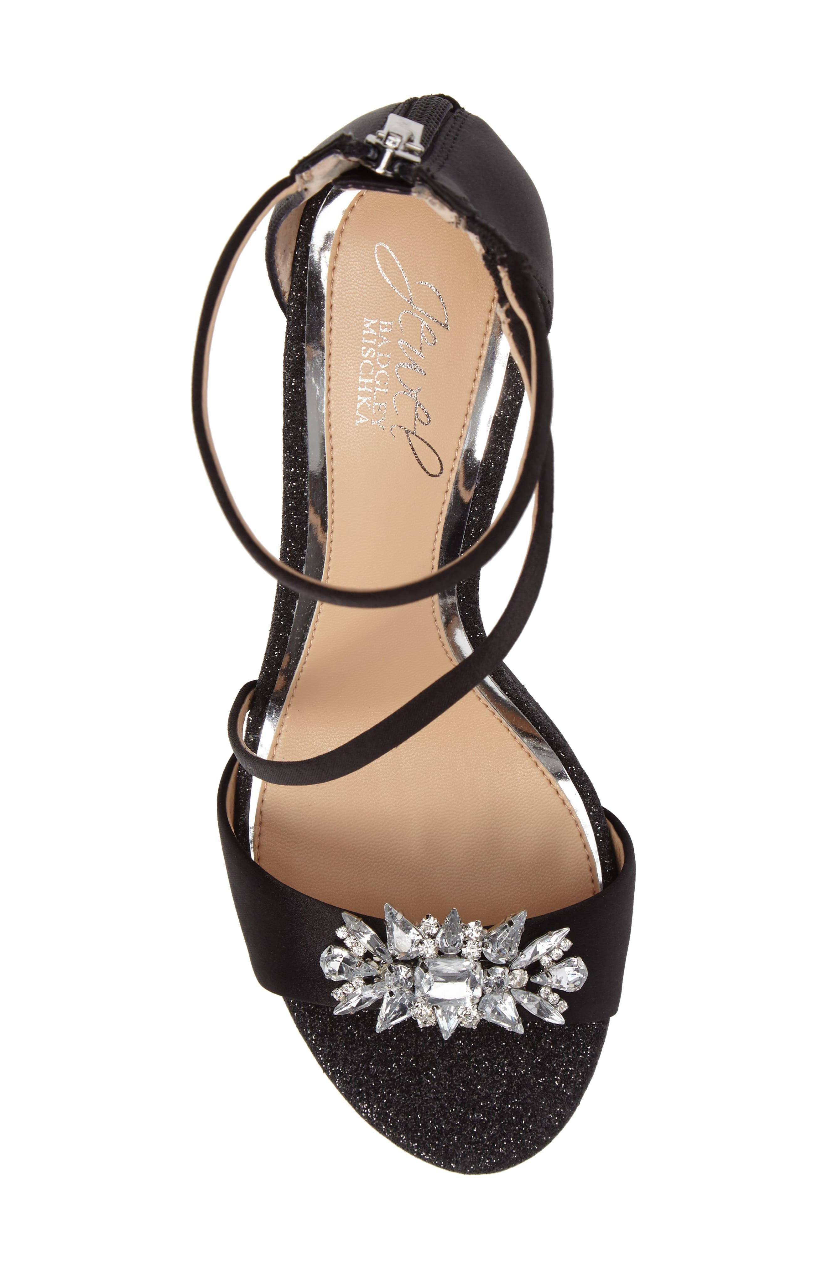 Leighton Embellished Strappy Sandal,                             Alternate thumbnail 5, color,                             015
