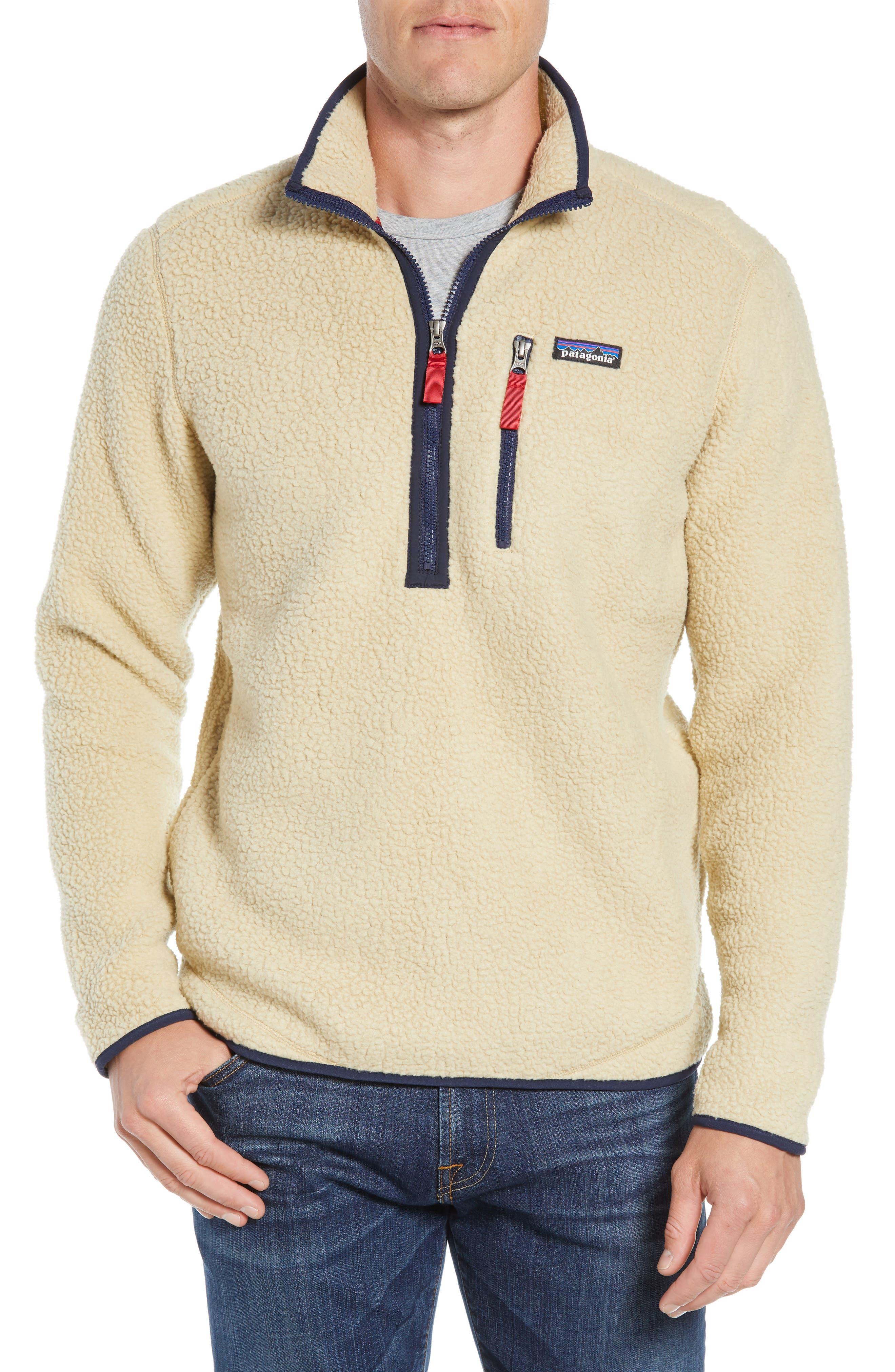 Retro Pile Fleece Zip Jacket,                             Main thumbnail 1, color,                             EL CAP KHAKI