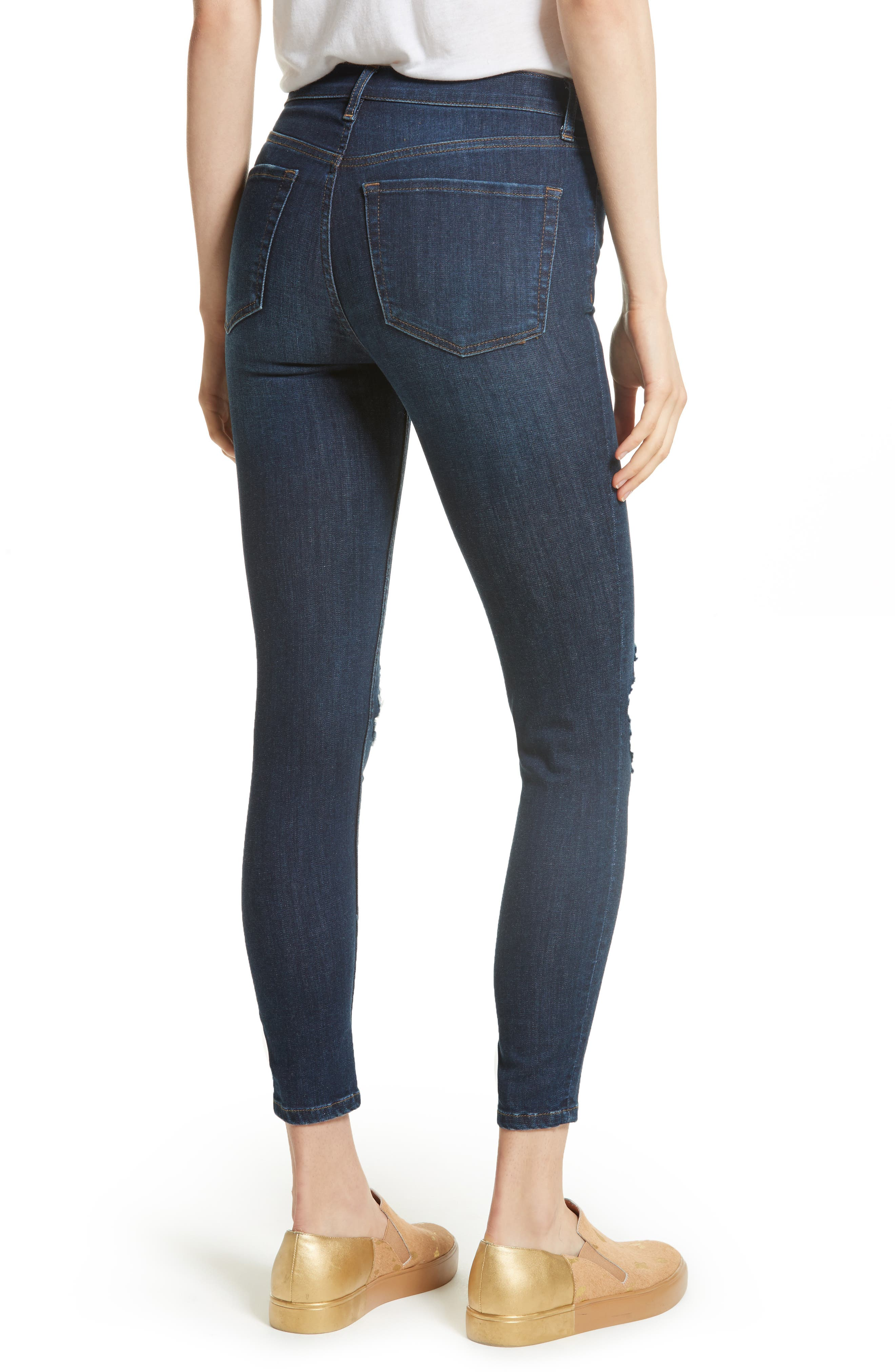 We the People by Free People High Rise Busted Knee Skinny Jeans,                             Alternate thumbnail 7, color,