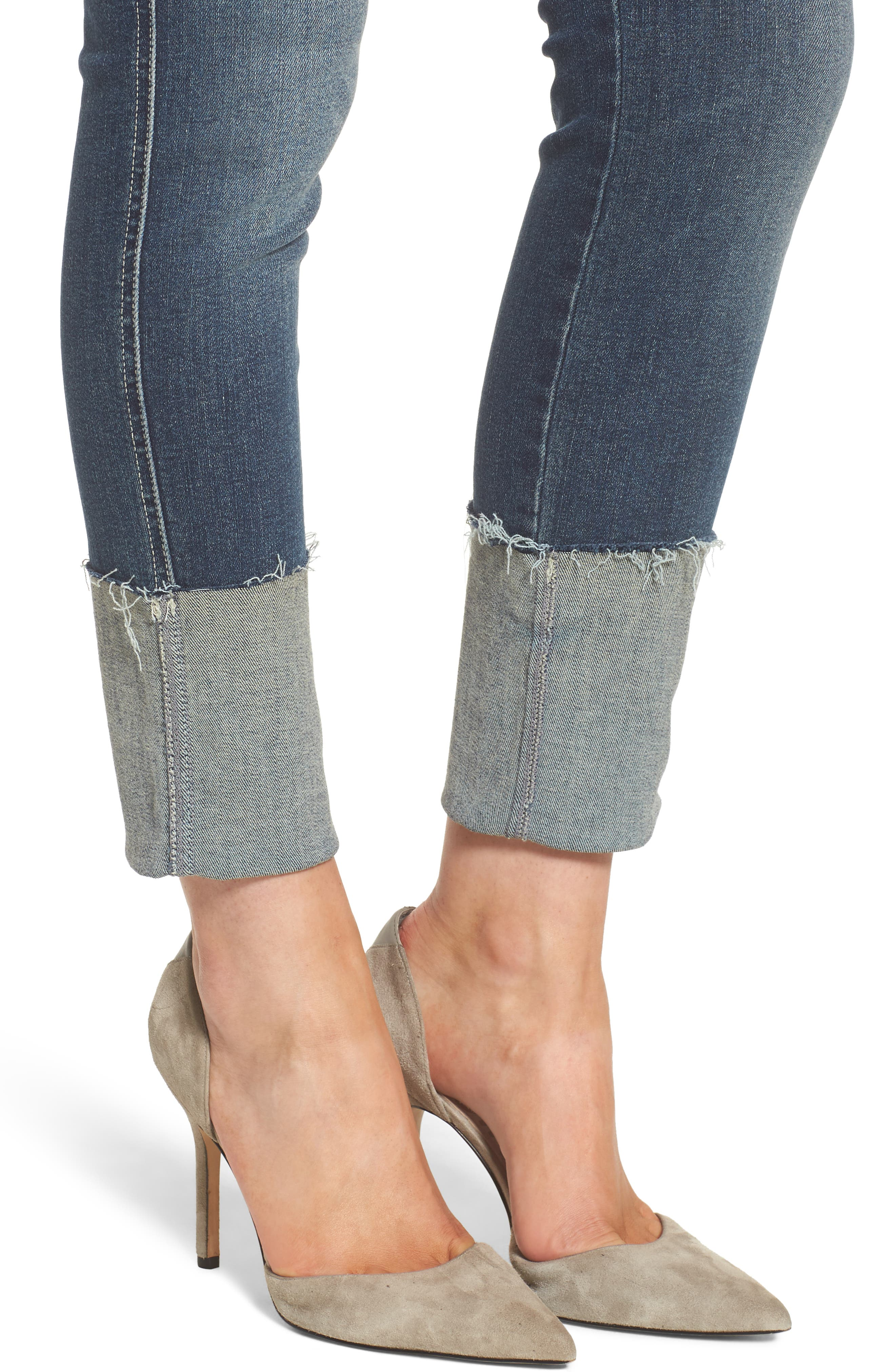 The Ponyboy Frayed Ankle Jeans,                             Alternate thumbnail 4, color,                             404