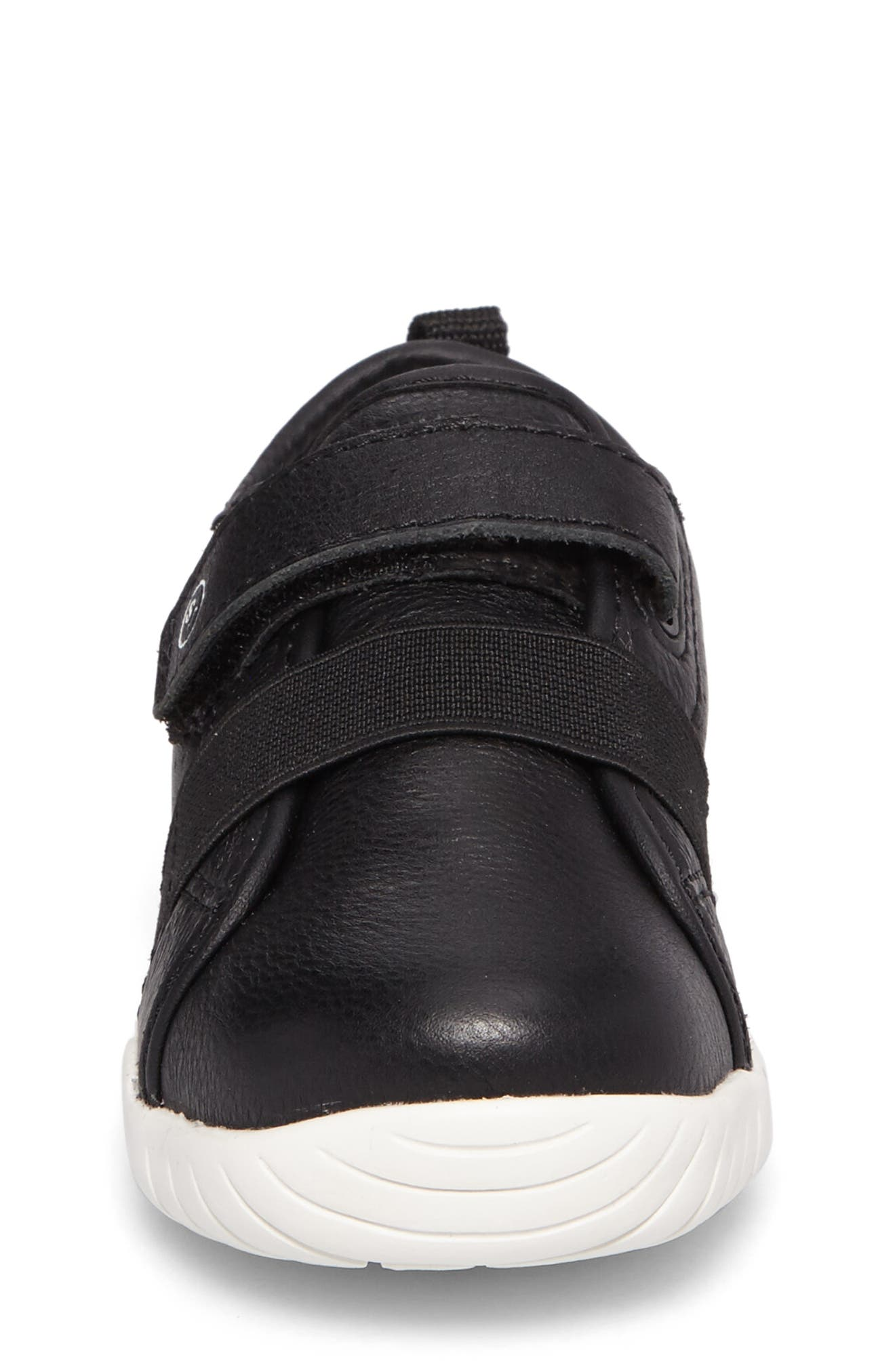 SRT Riley Sneaker,                             Alternate thumbnail 4, color,                             BLACK LEATHER