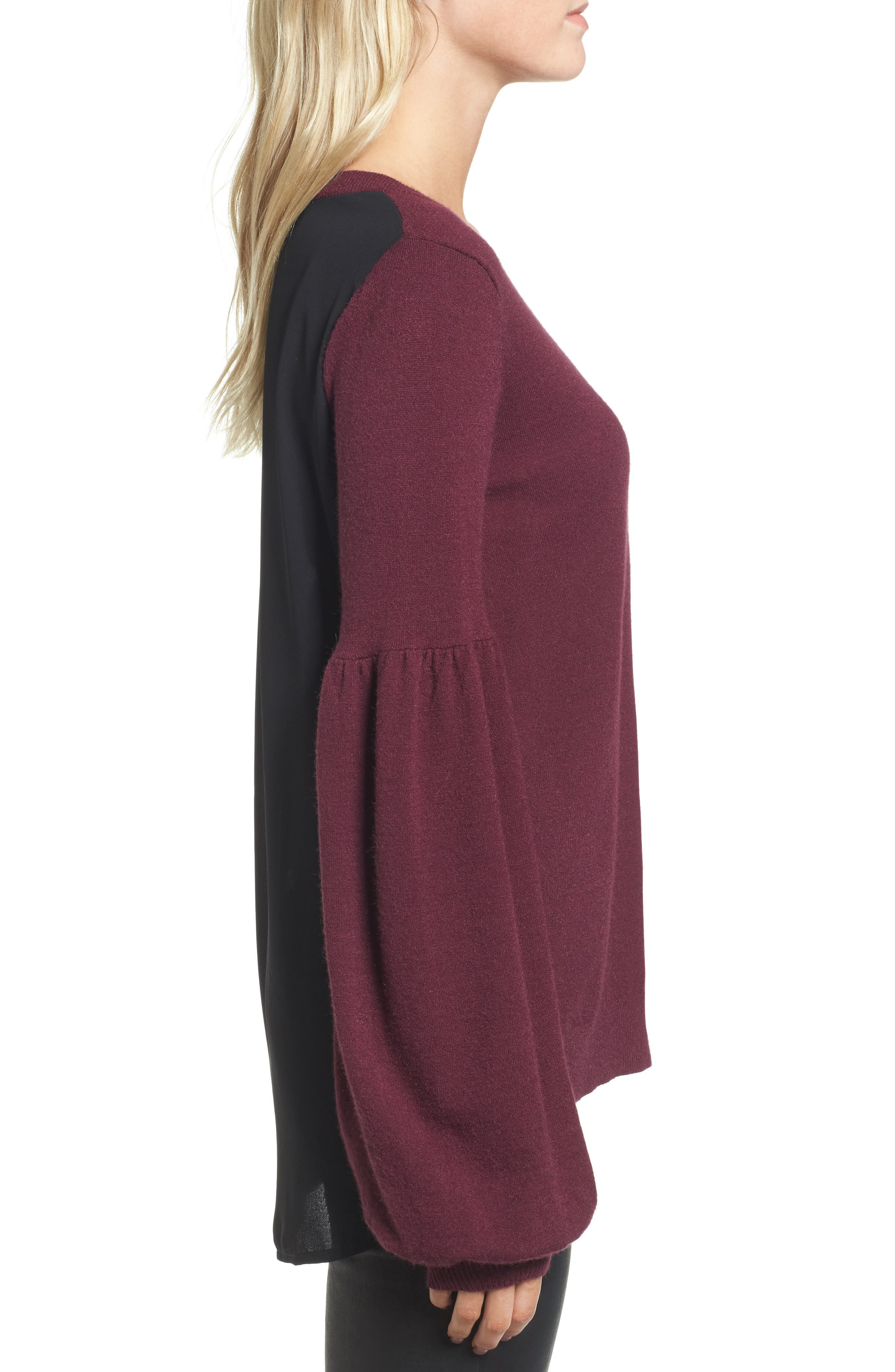 Woven Back Sweater,                             Alternate thumbnail 15, color,