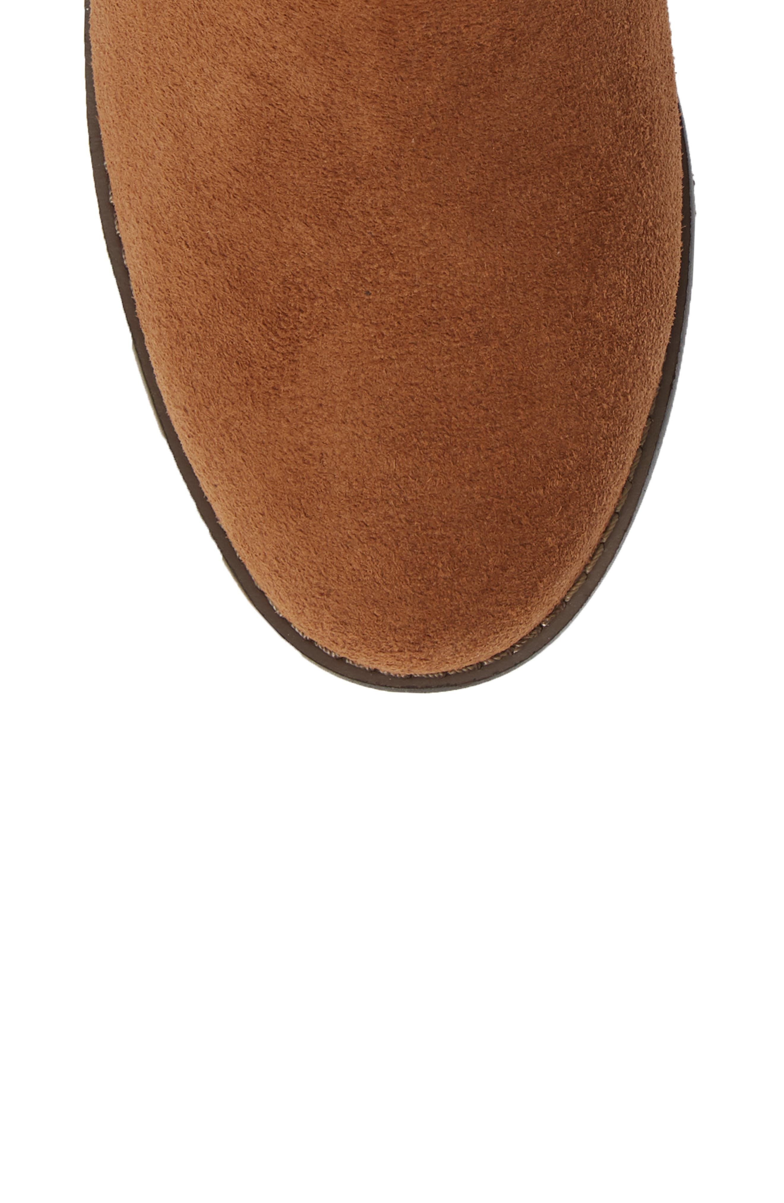 Kanela Low Slouchy Bootie,                             Alternate thumbnail 5, color,                             TOFFEE SUEDE