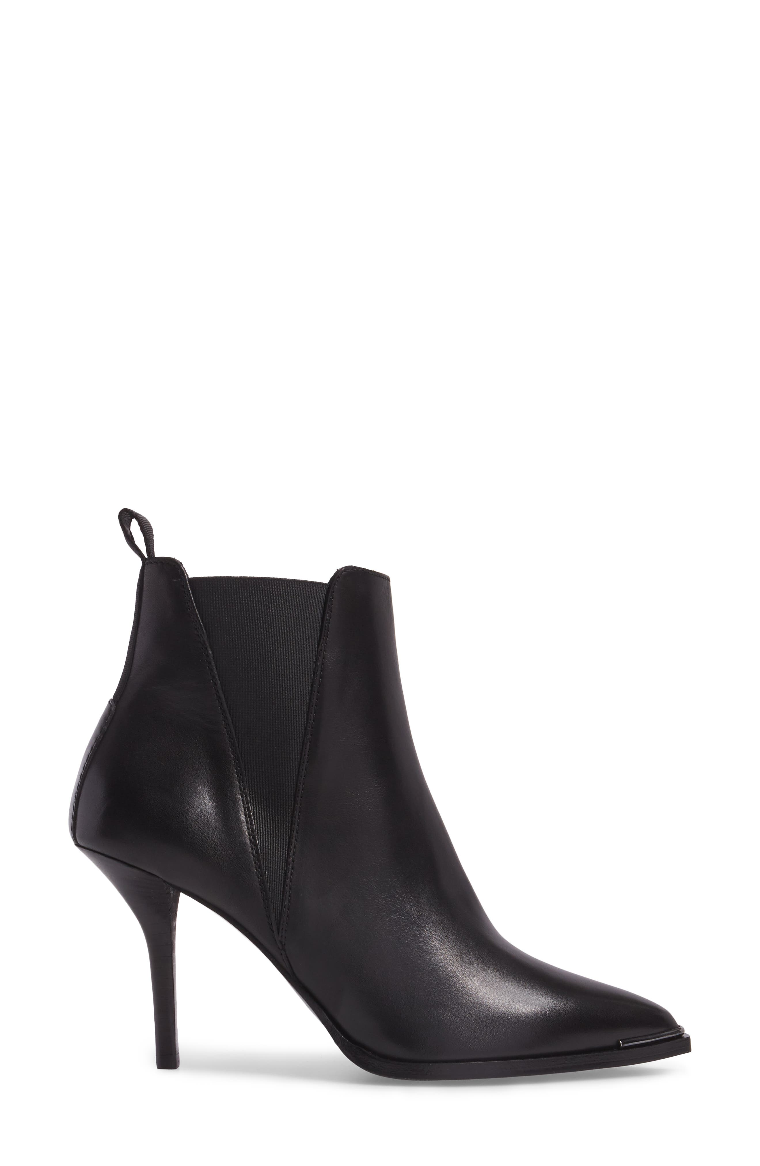 Jemma Pointy Toe Bootie,                             Alternate thumbnail 3, color,                             001