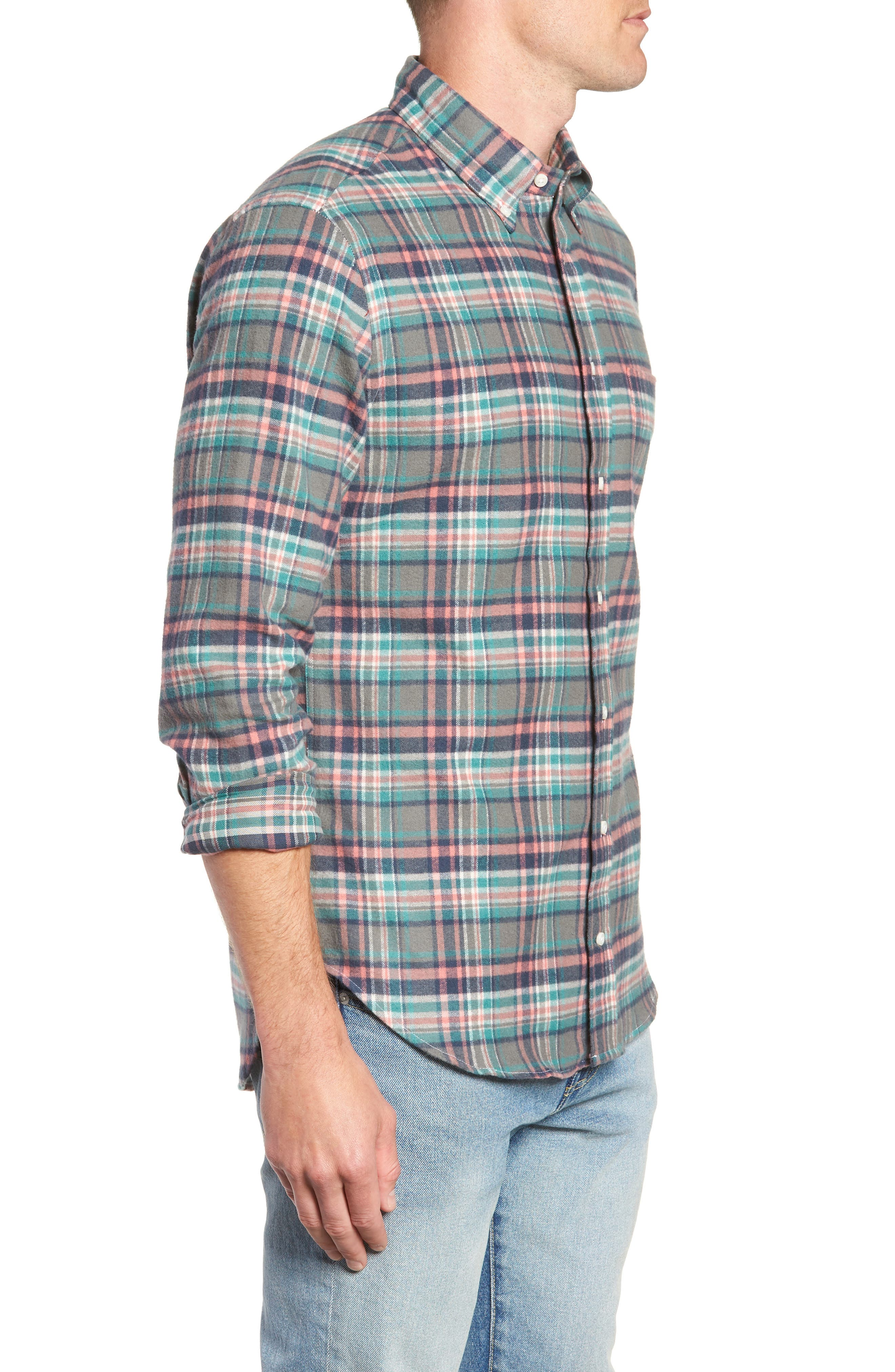 Regular Fit Candy Flannel Shirt,                             Alternate thumbnail 4, color,                             600