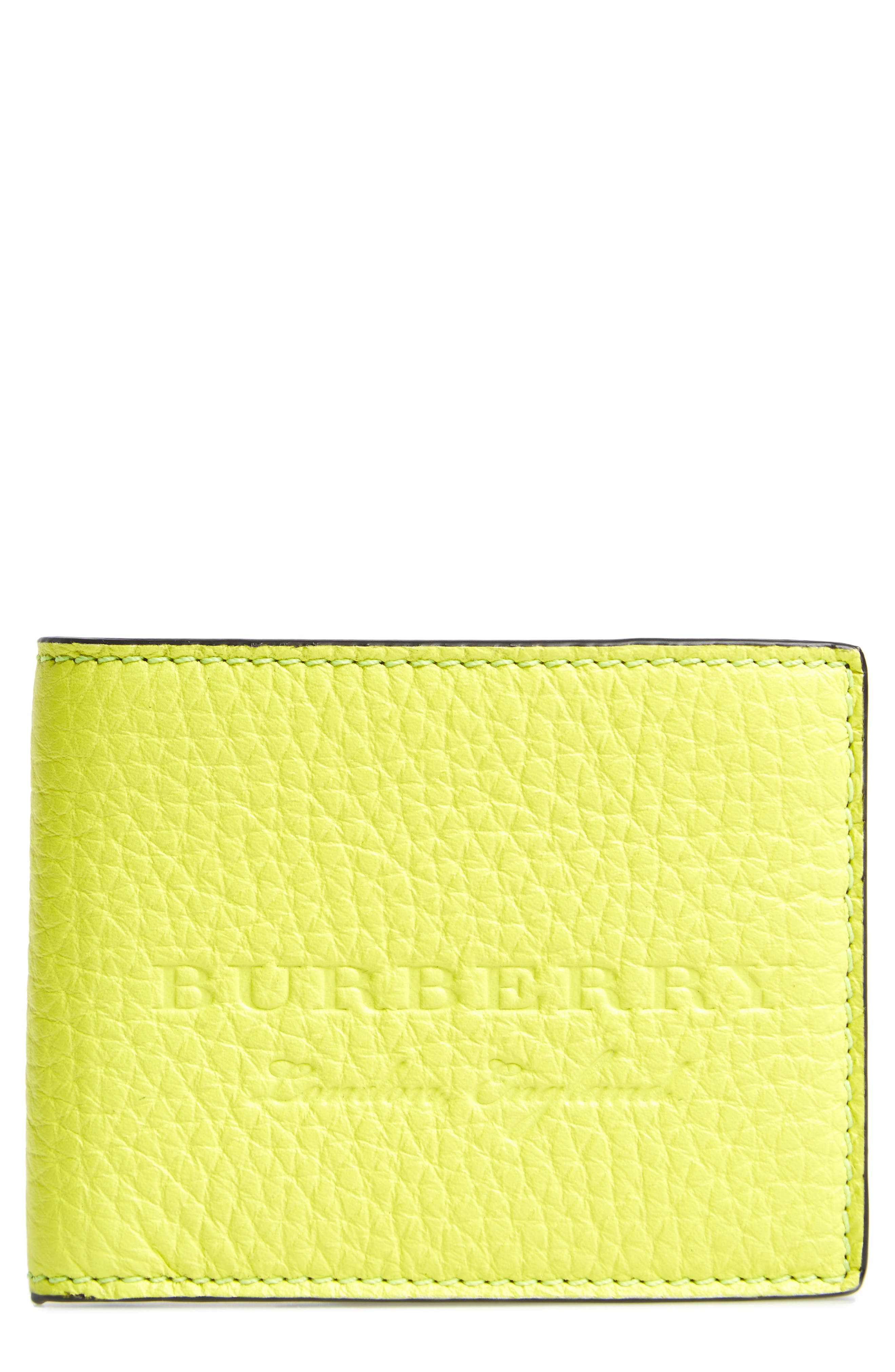 Leather Bifold Wallet,                             Main thumbnail 2, color,