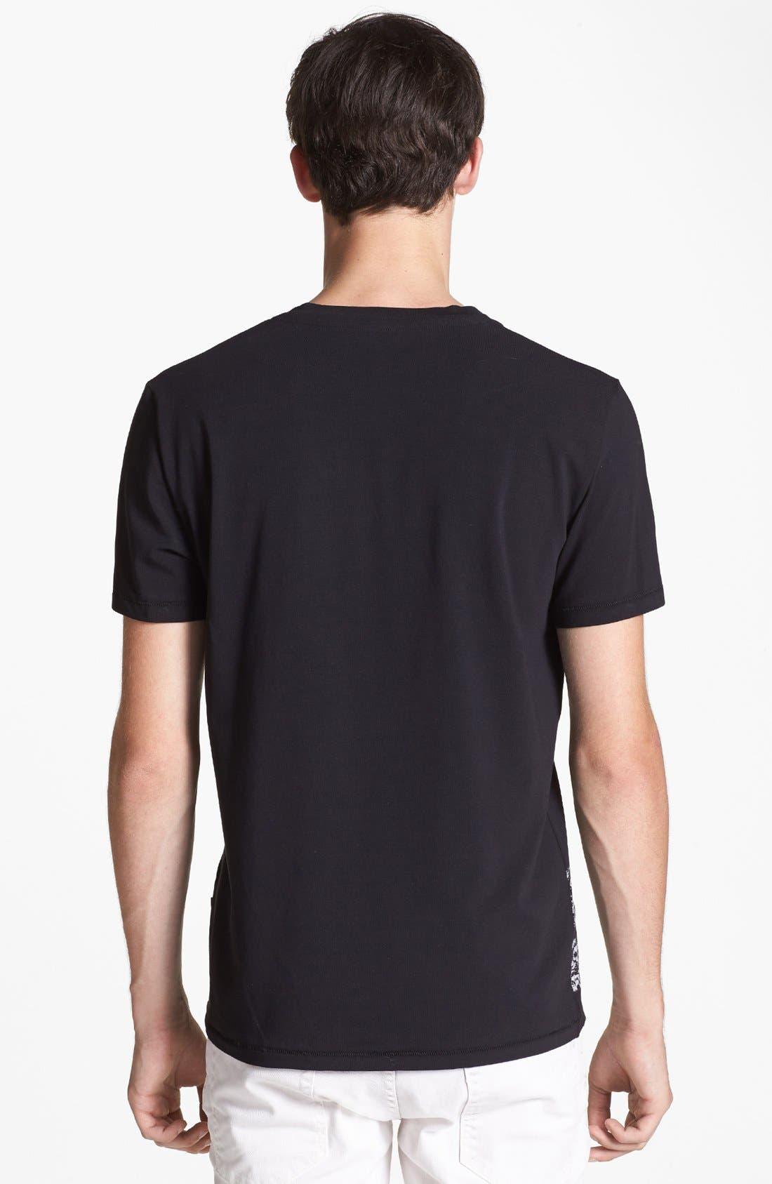 'Python' V-Neck T-Shirt,                             Alternate thumbnail 2, color,                             001