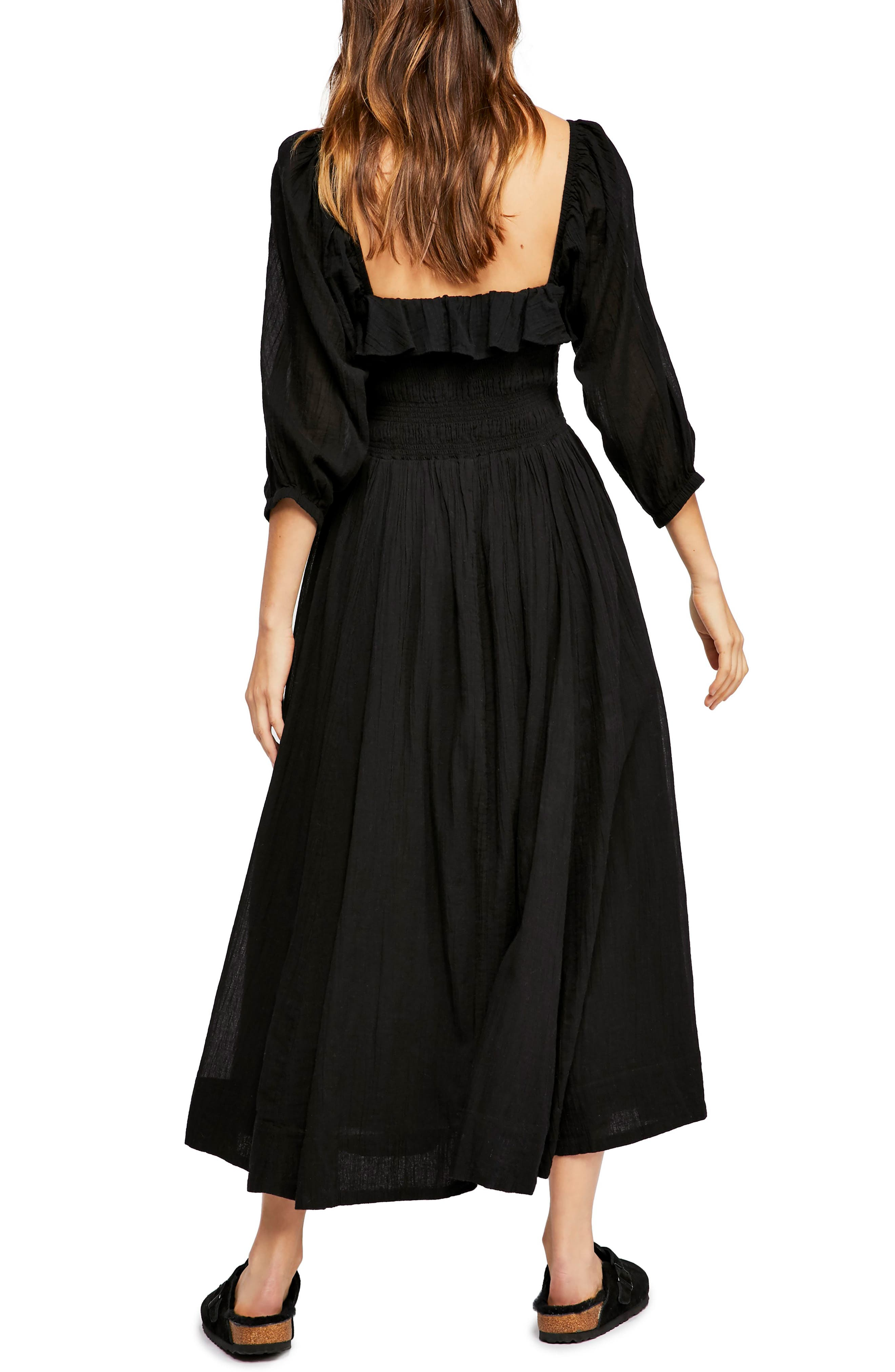 Endless Summer by Free People Ruffle Maxi Dress,                             Alternate thumbnail 2, color,                             BLACK