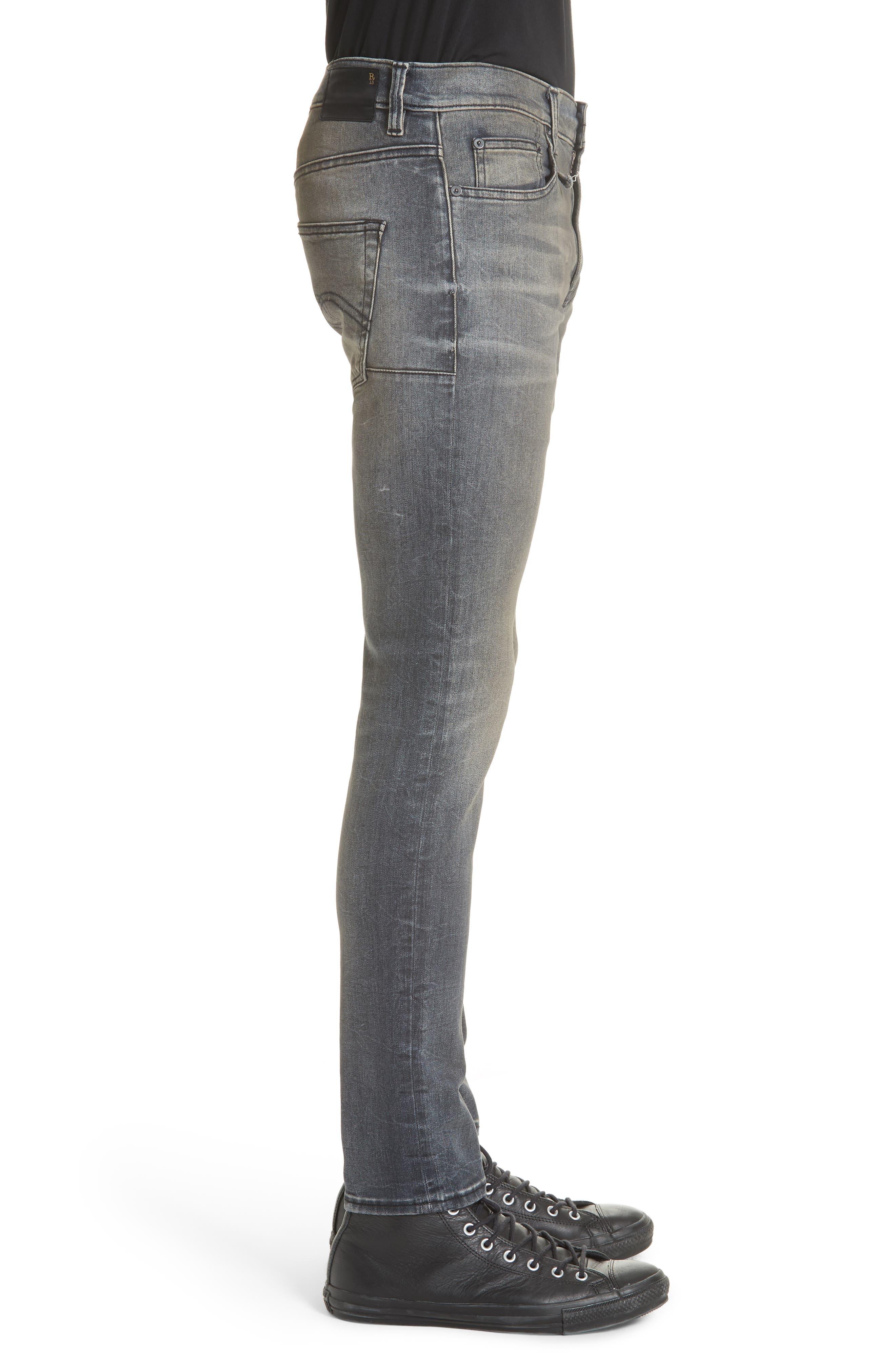Skate Slim Fit Jeans,                             Alternate thumbnail 3, color,                             001
