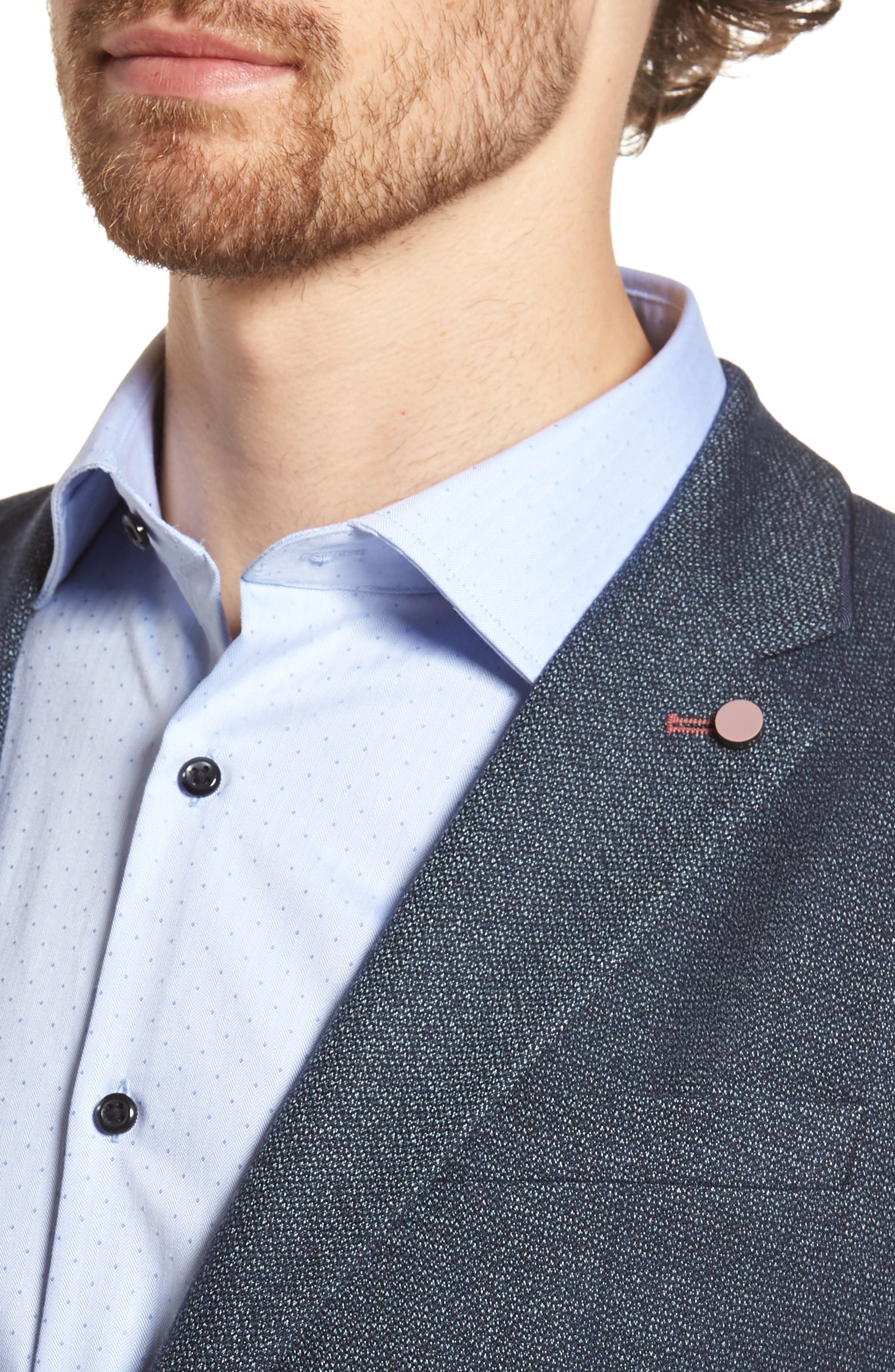 Burkett Trim Fit Blazer,                             Alternate thumbnail 4, color,