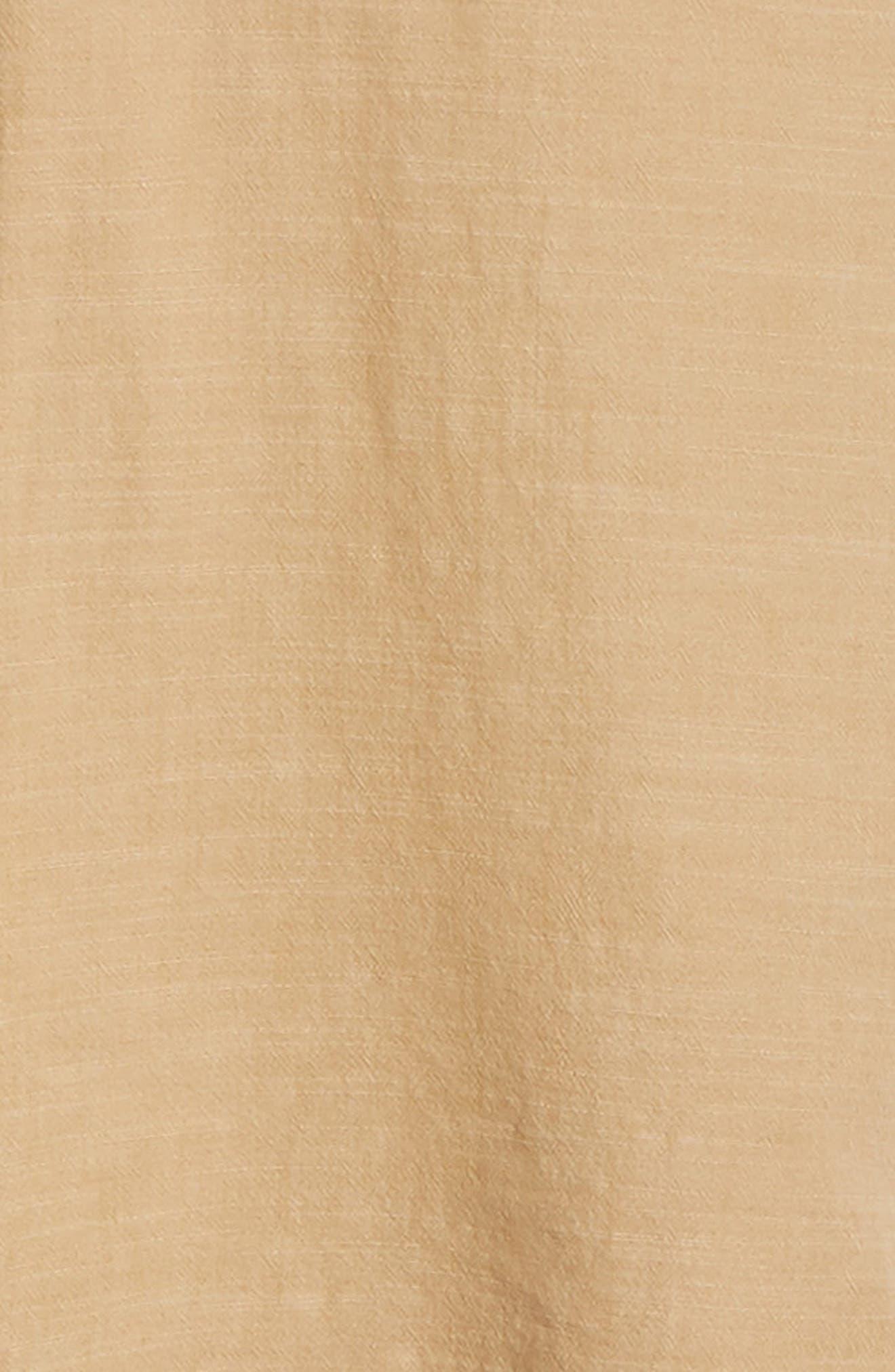 FRYE,                             Addison Chambray Woven Shirt,                             Alternate thumbnail 6, color,                             KRAFT BROWN