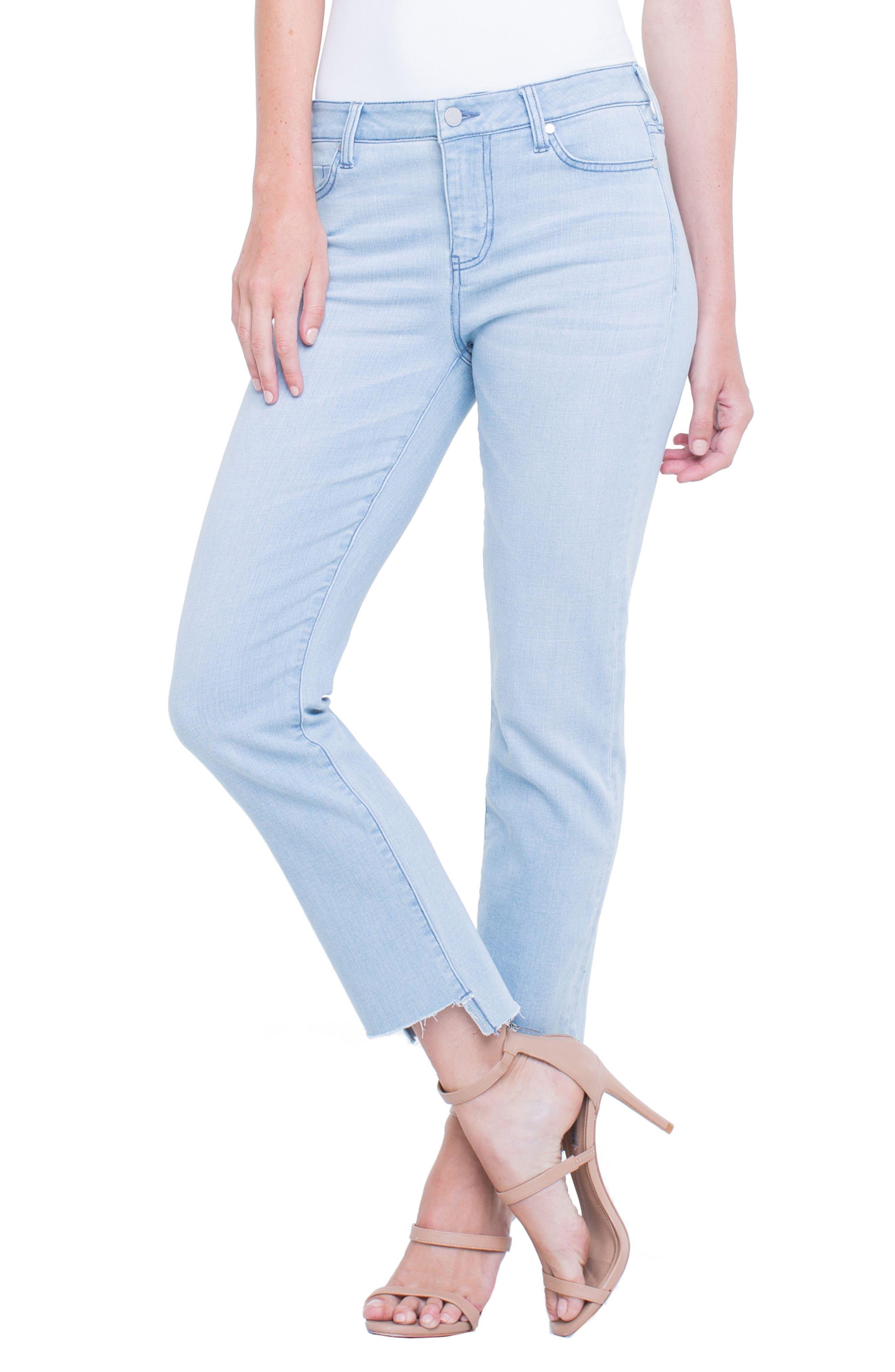 Jayden Crop Straight Leg Jeans,                         Main,                         color, 401