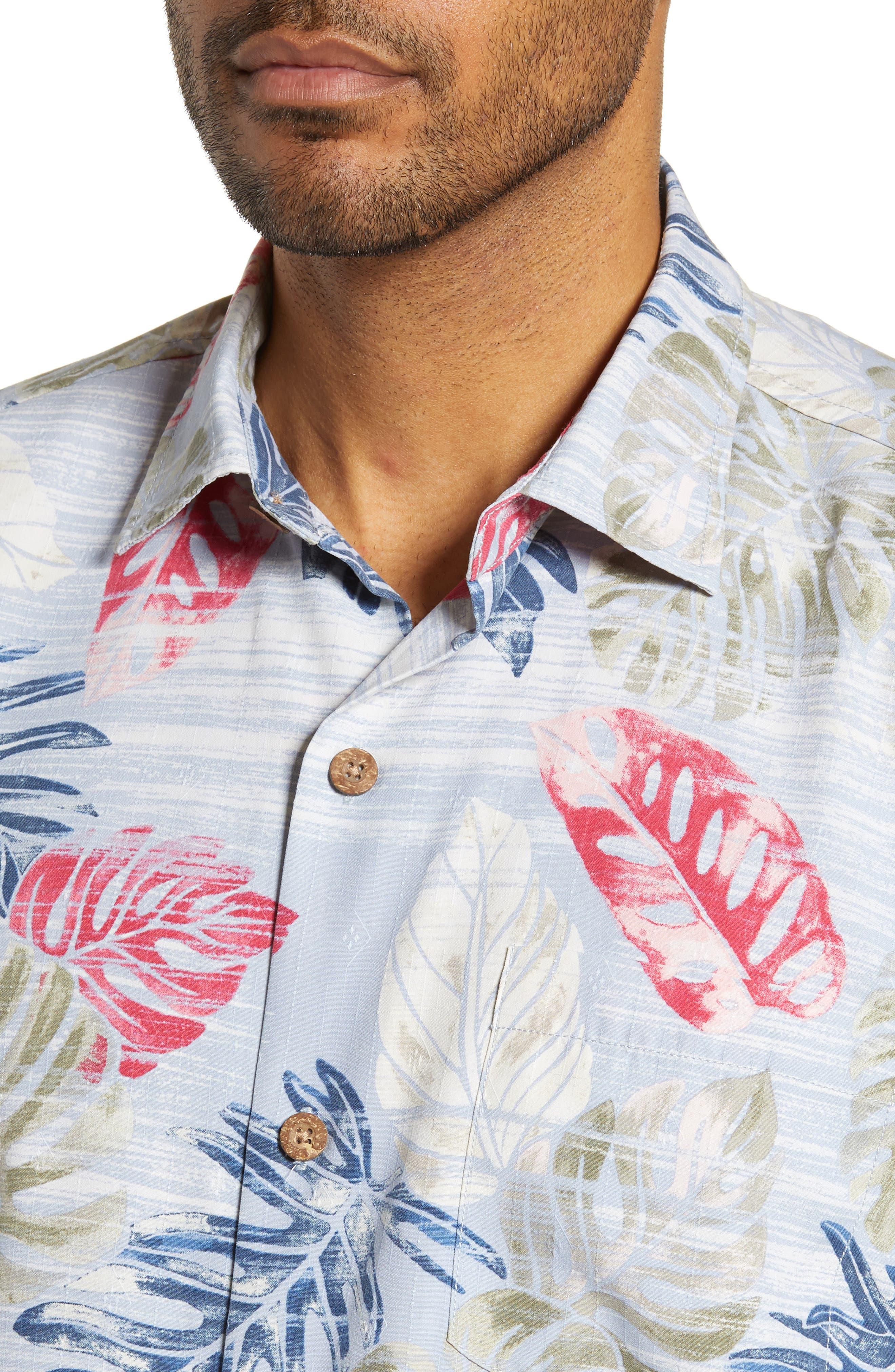 TOMMY BAHAMA,                             Botanica Sketch Silk Blend Shirt,                             Alternate thumbnail 2, color,                             CANYON SKY