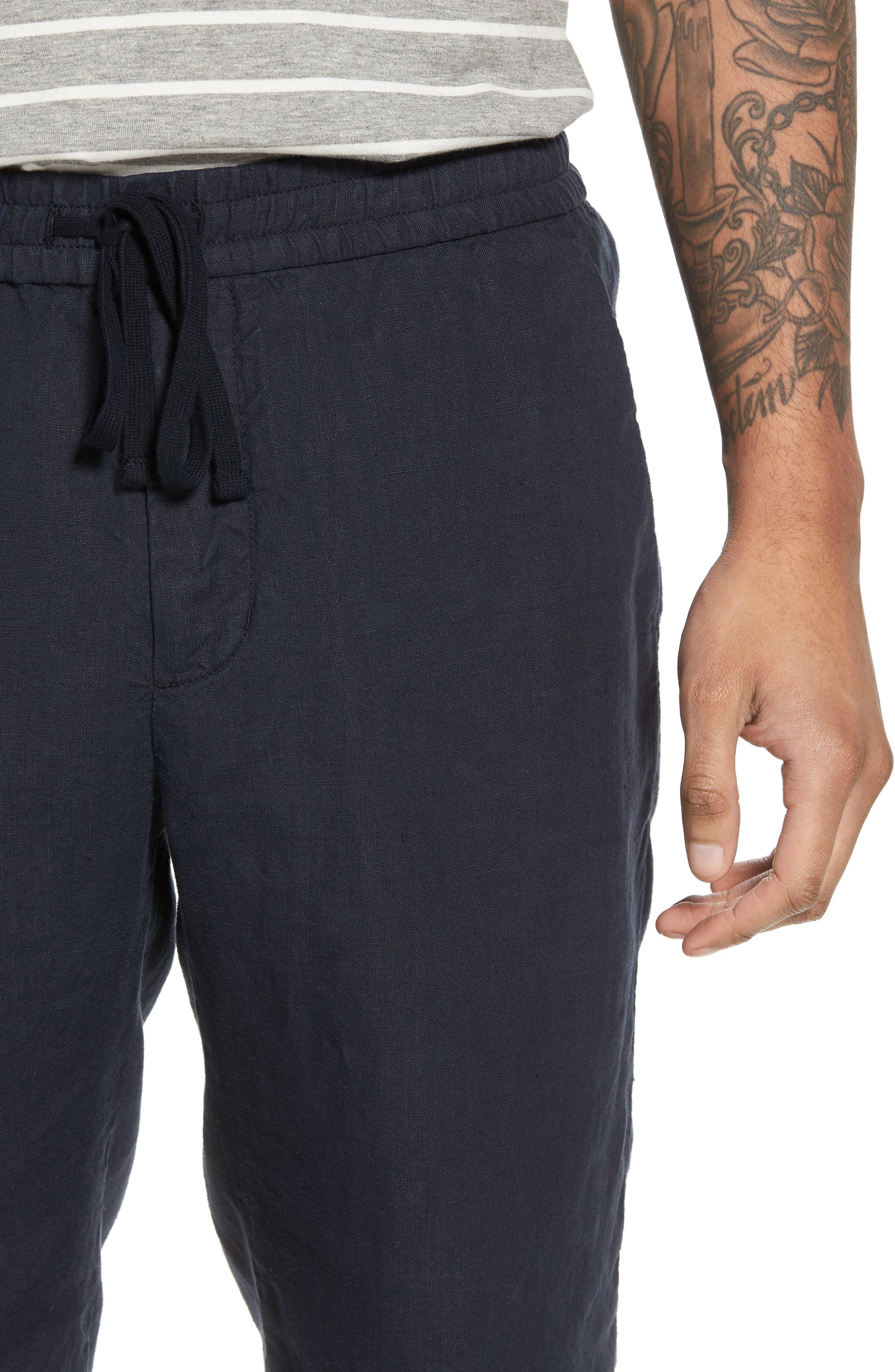 Raw Hem Slim Fit Track Shorts,                             Alternate thumbnail 4, color,                             NEW COASTAL