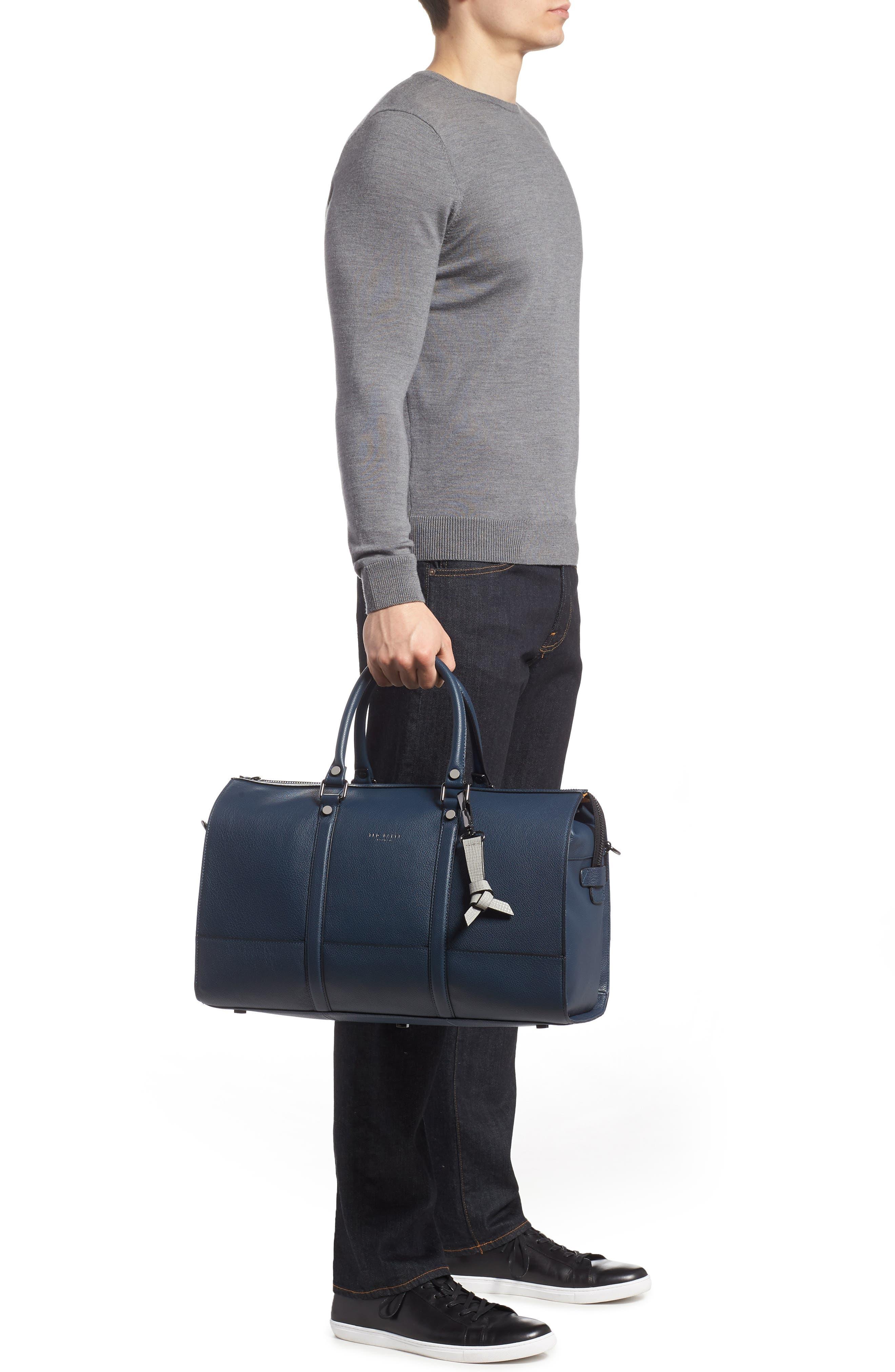 Leather Duffel Bag,                             Alternate thumbnail 5, color,