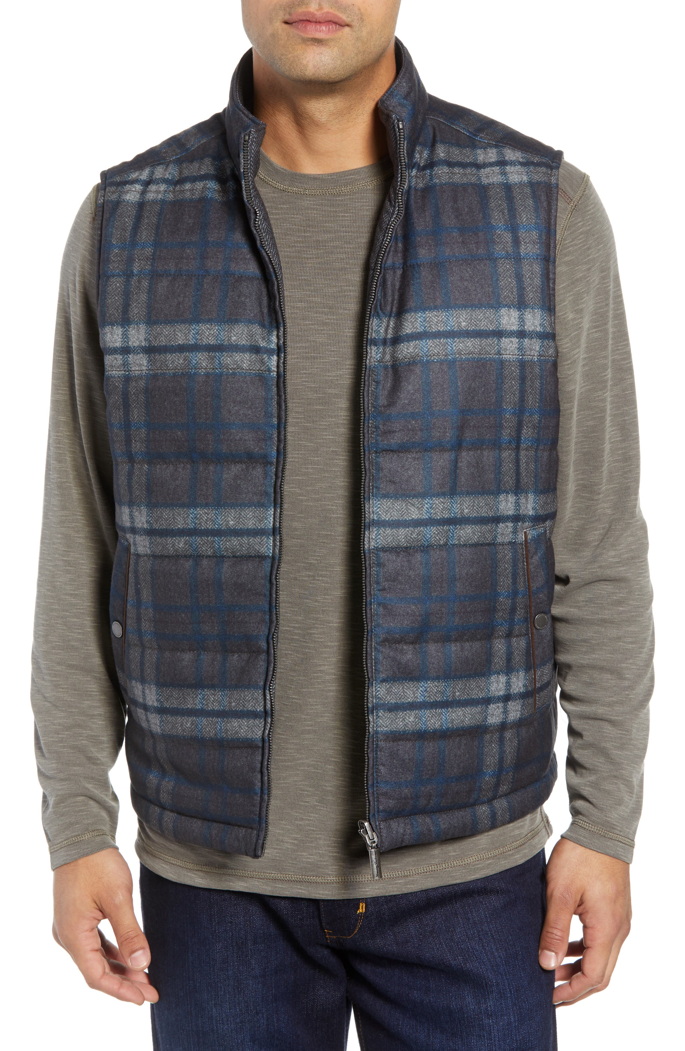 Dublin Duo Reversible Quilted Vest,                             Alternate thumbnail 2, color,                             SHADOW