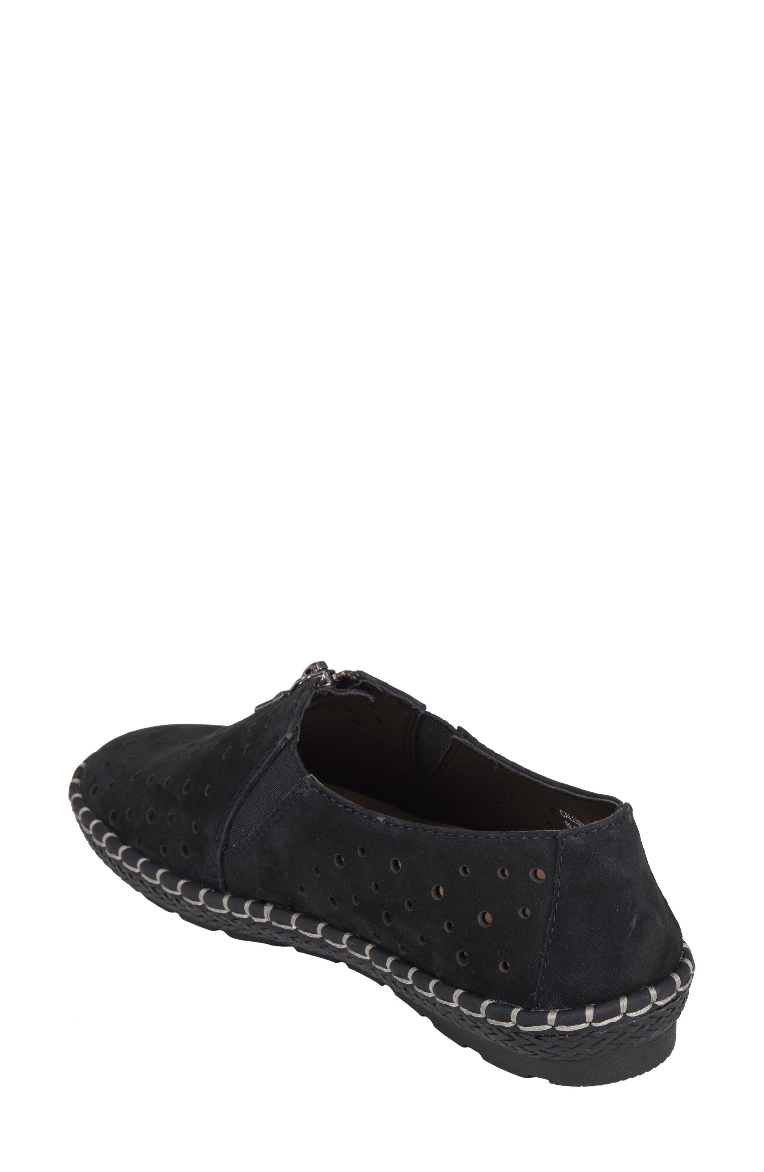 Callisto Perforated Zip Moccasin,                             Alternate thumbnail 2, color,                             001