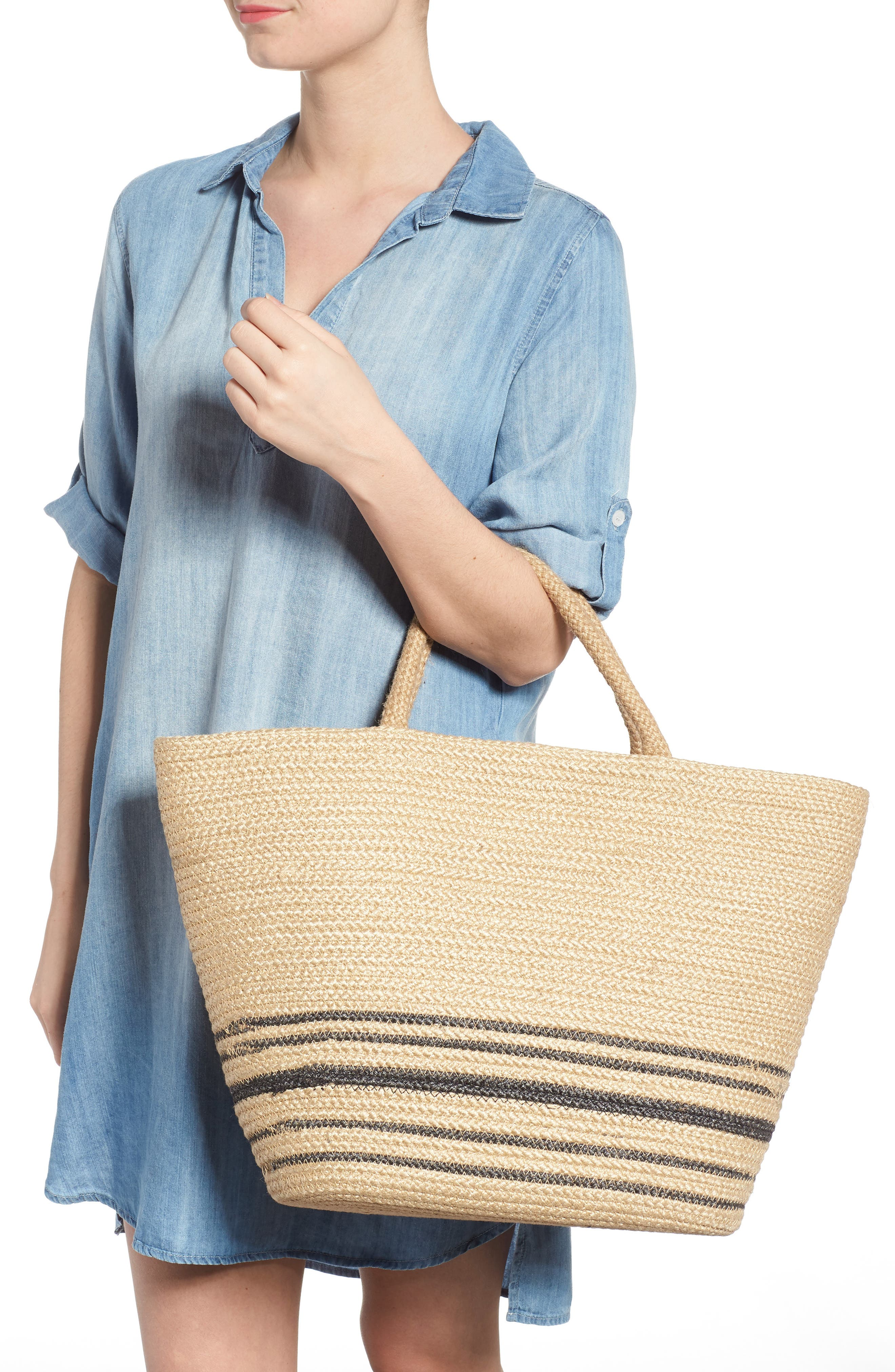 Forever Vacay Jute Bag,                             Alternate thumbnail 2, color,