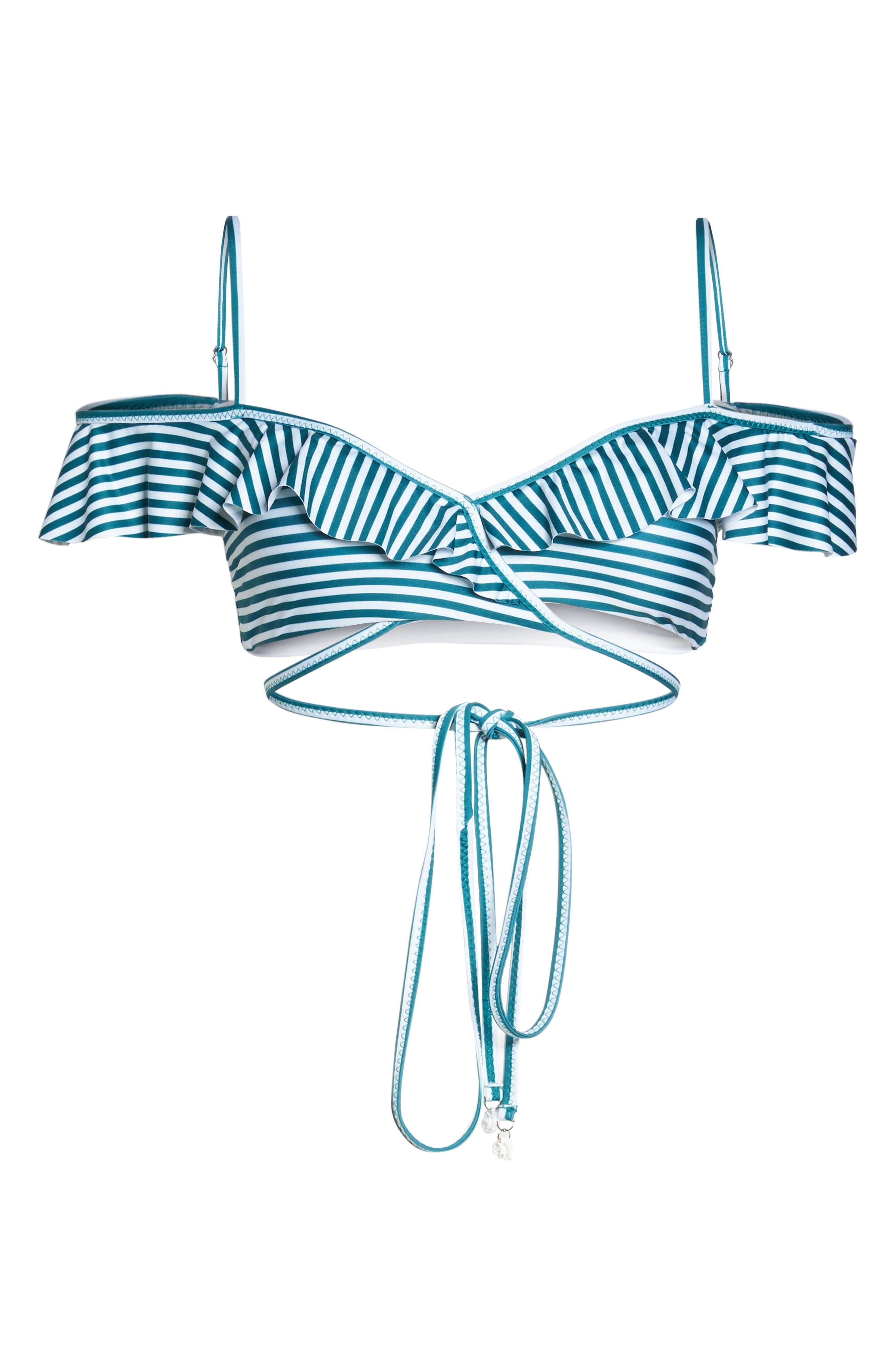 Avalon Wrap Bikini Top,                             Alternate thumbnail 6, color,                             001