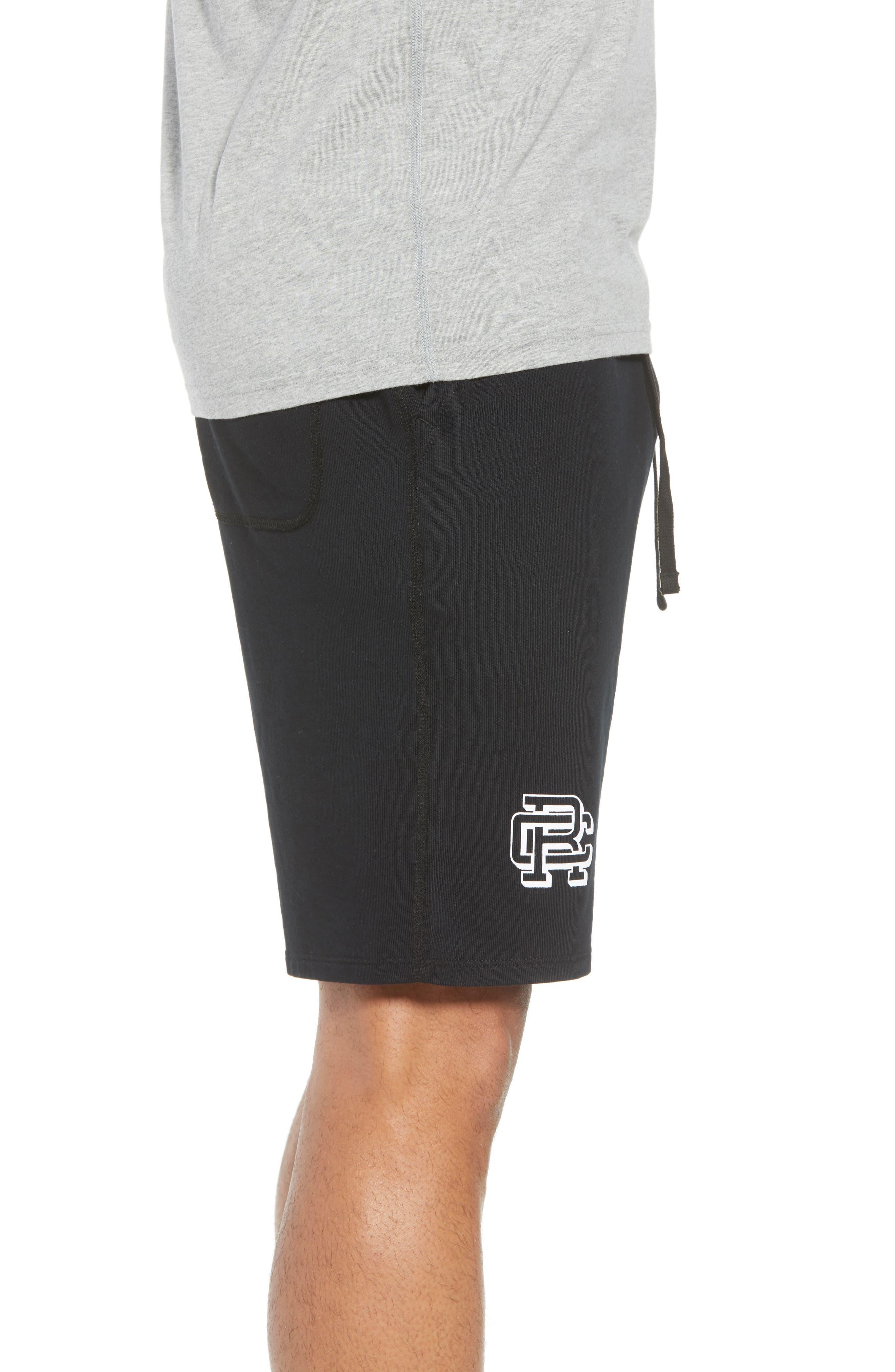Shorts Lightweight Classic Fit Knit Shorts,                             Alternate thumbnail 3, color,                             BLACK