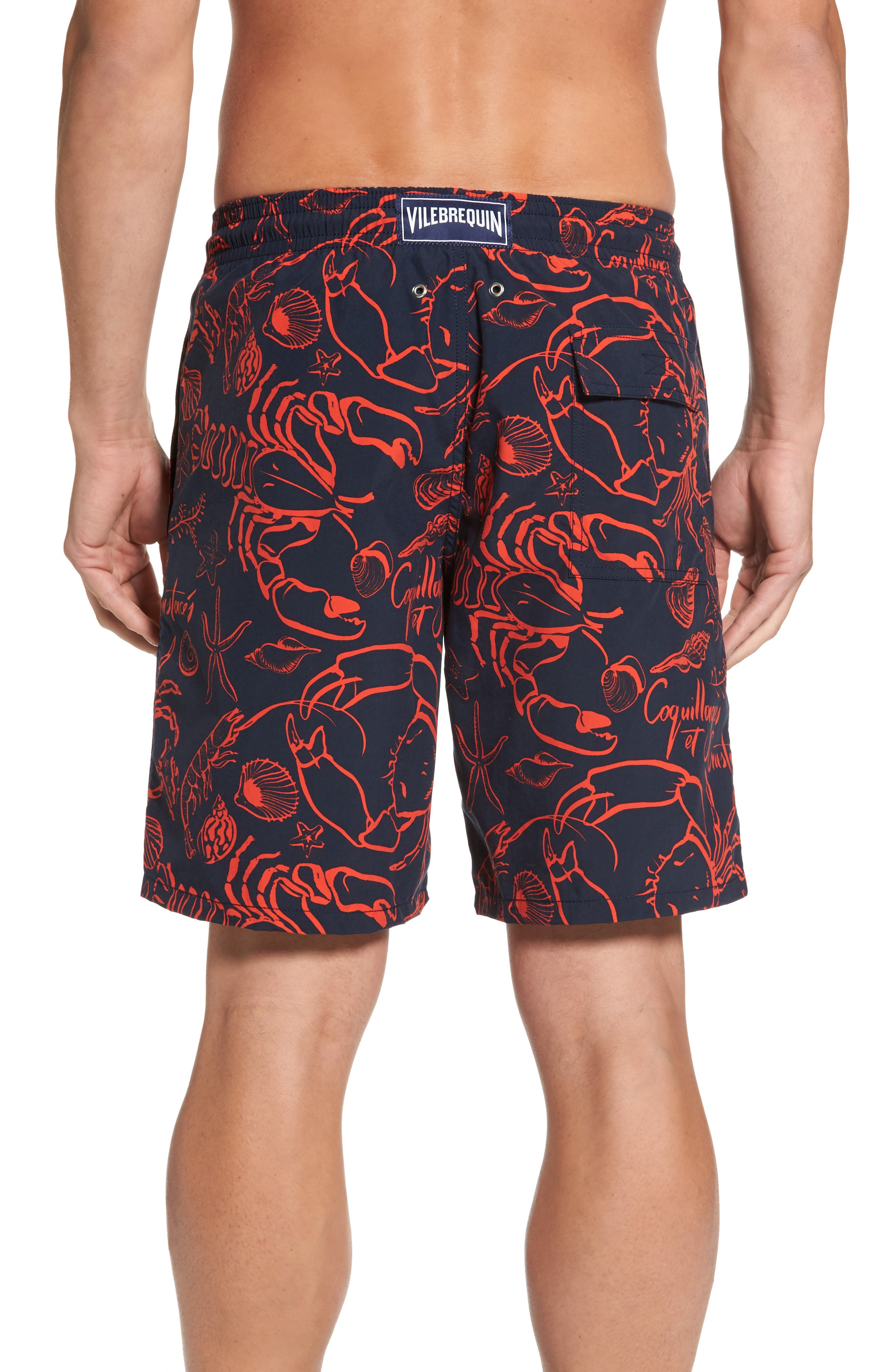 Okoa Shellfish Swim Trunks,                             Alternate thumbnail 2, color,                             NAVY BLUE