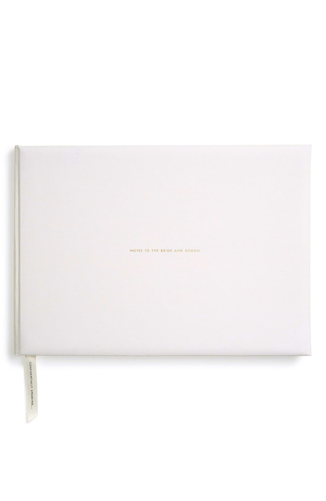 KATE SPADE NEW YORK,                             'notes to the bride & groom' guest book,                             Alternate thumbnail 3, color,                             100