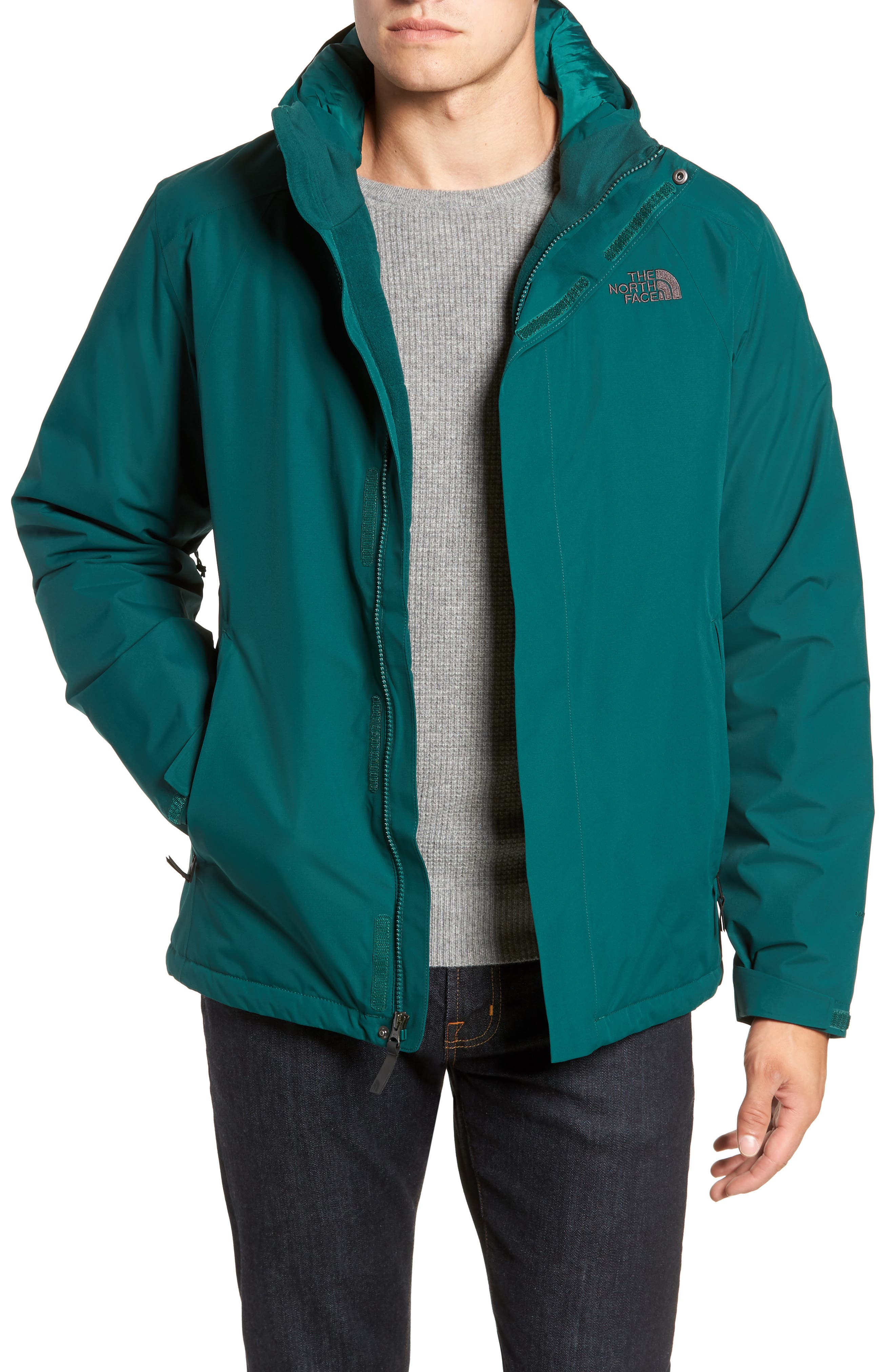 'Inlux' Hooded Jacket,                             Main thumbnail 1, color,                             BOTANICAL GARDEN GREEN