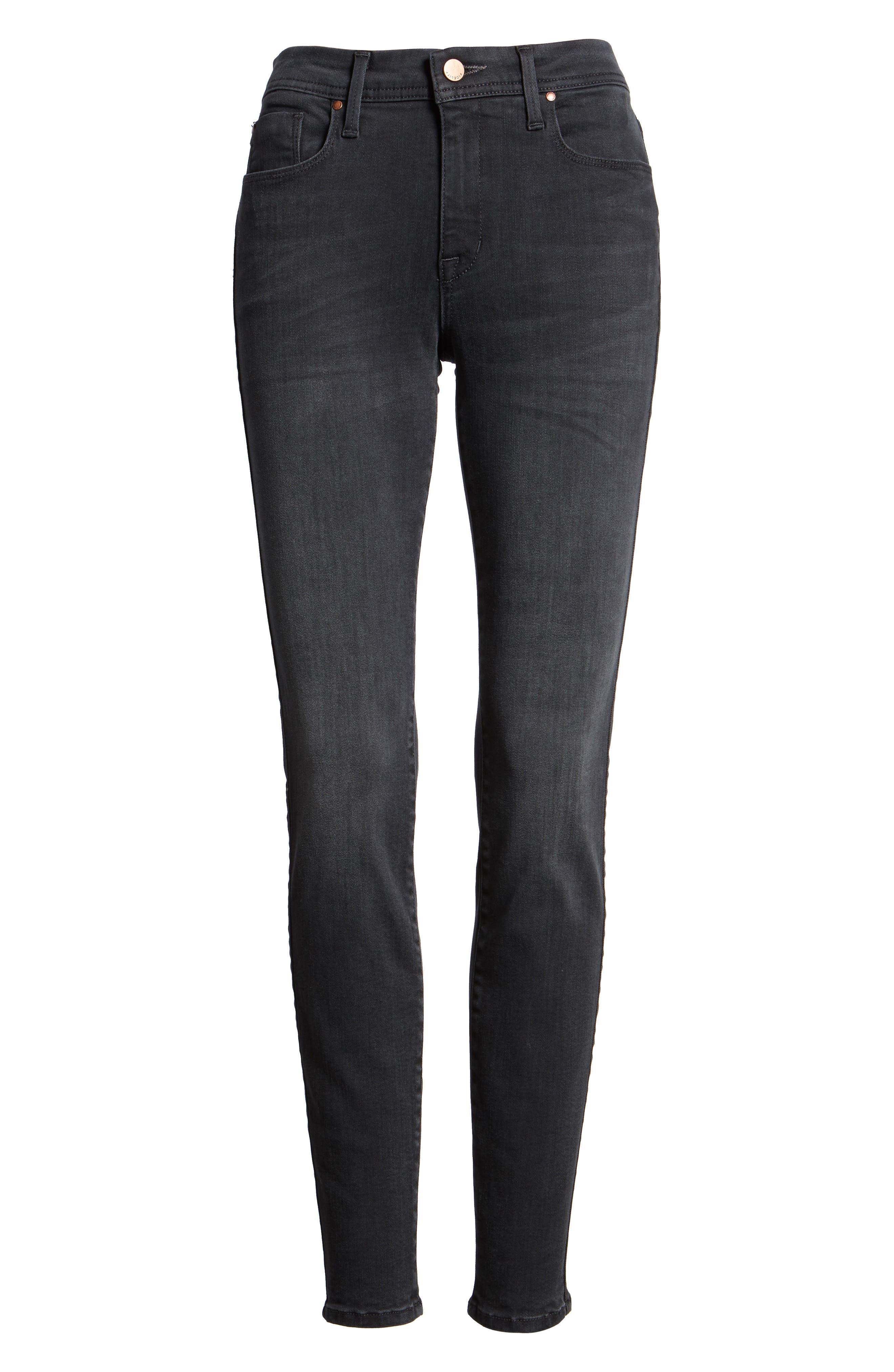 Belvedere Skinny Jeans,                             Alternate thumbnail 6, color,                             001