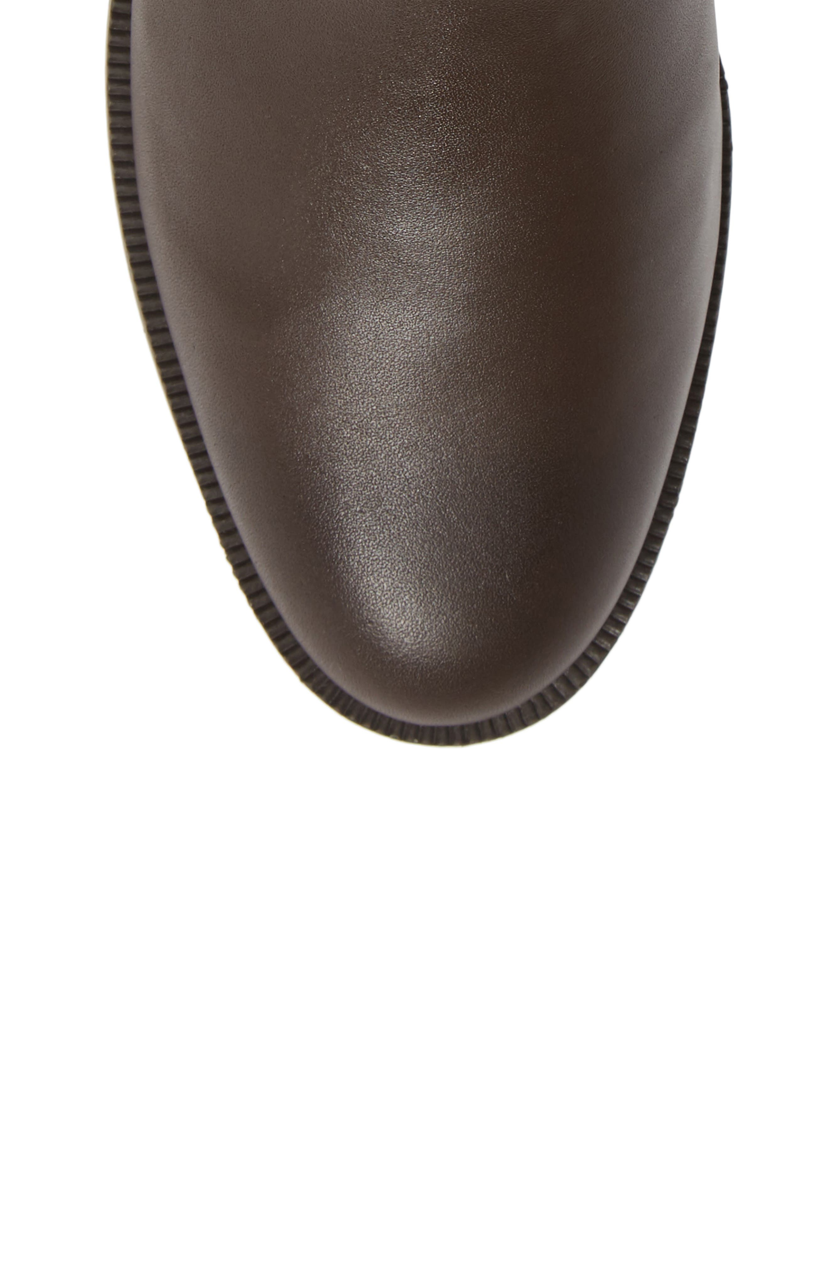 Benette Water Resistant Bootie,                             Alternate thumbnail 5, color,                             CHOCOLATE LEATHER