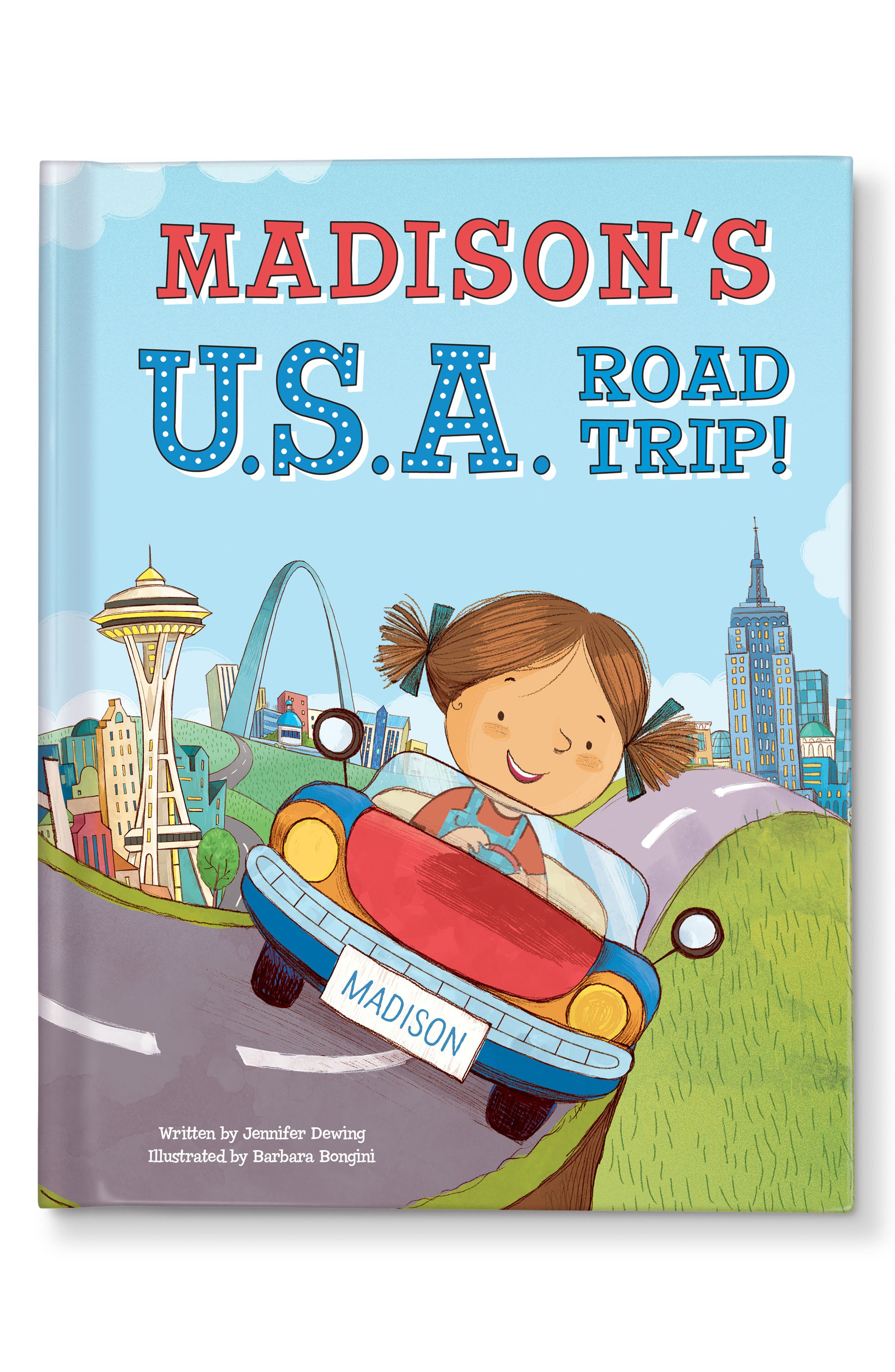 'My U.S.A. Road Trip!' Personalized Storybook,                             Main thumbnail 1, color,                             WASHINGTON