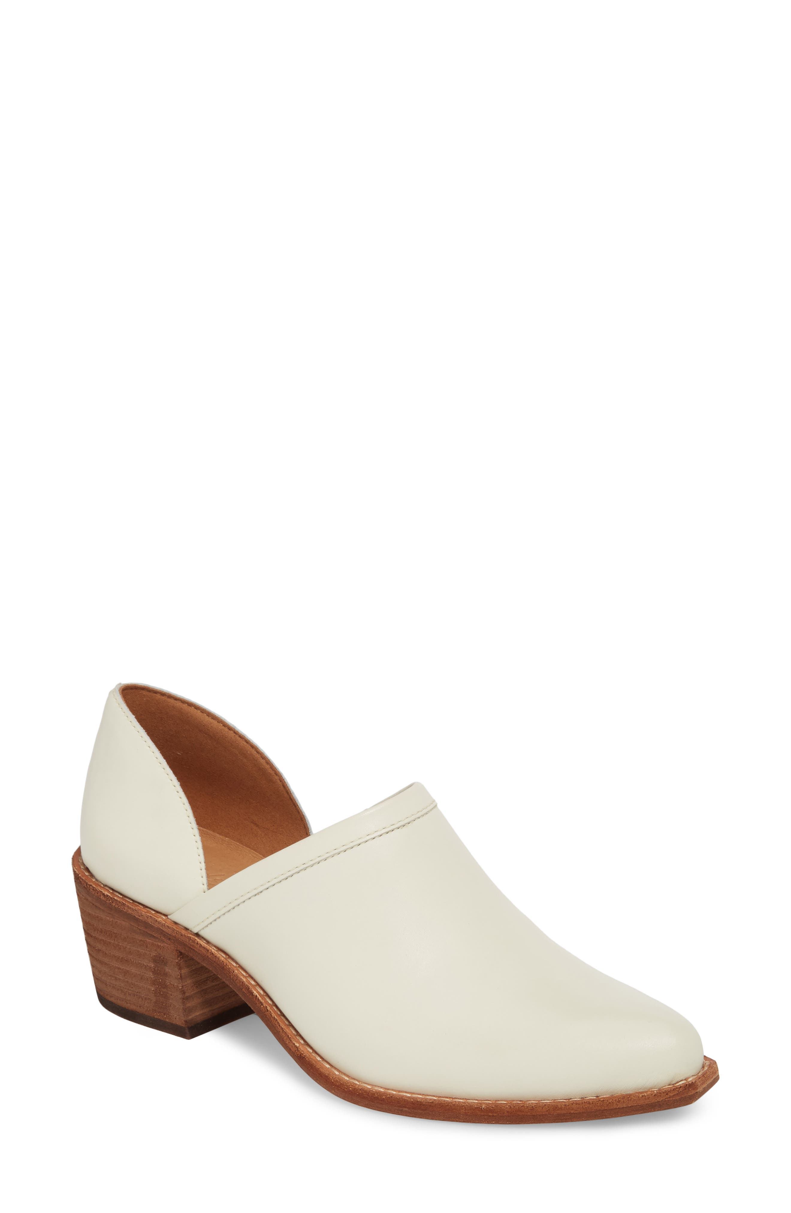 Brady Block Heel Bootie,                             Main thumbnail 1, color,                             VINTAGE CANVAS LEATHER