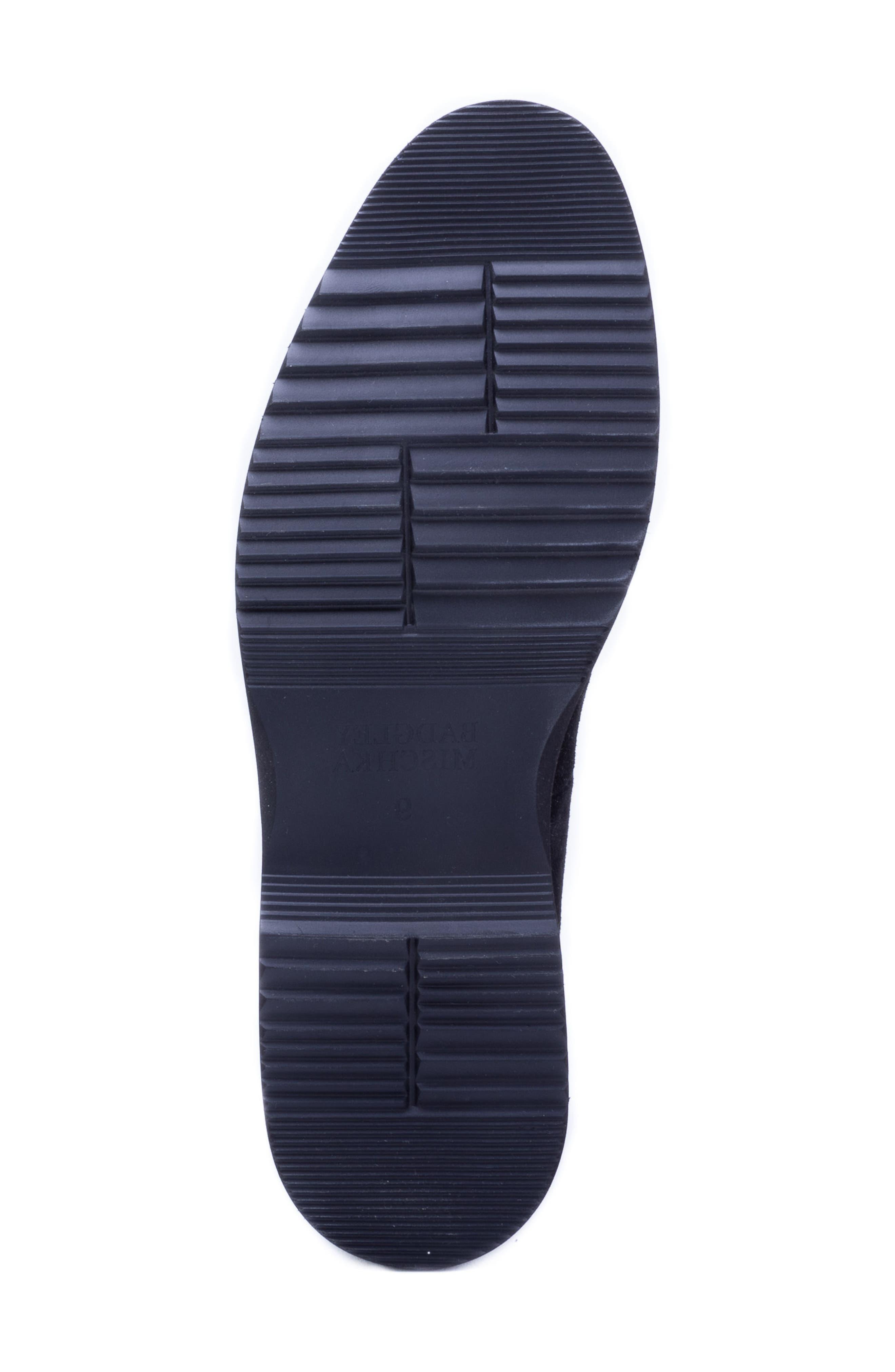 Horn Tassel Loafer,                             Alternate thumbnail 6, color,                             BLACK SUEDE