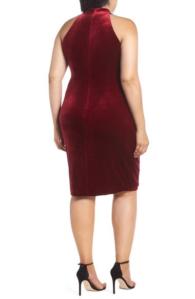 cf7cfda9eb7 Vince Camuto Draped Velvet Sheath Dress (Plus Size)
