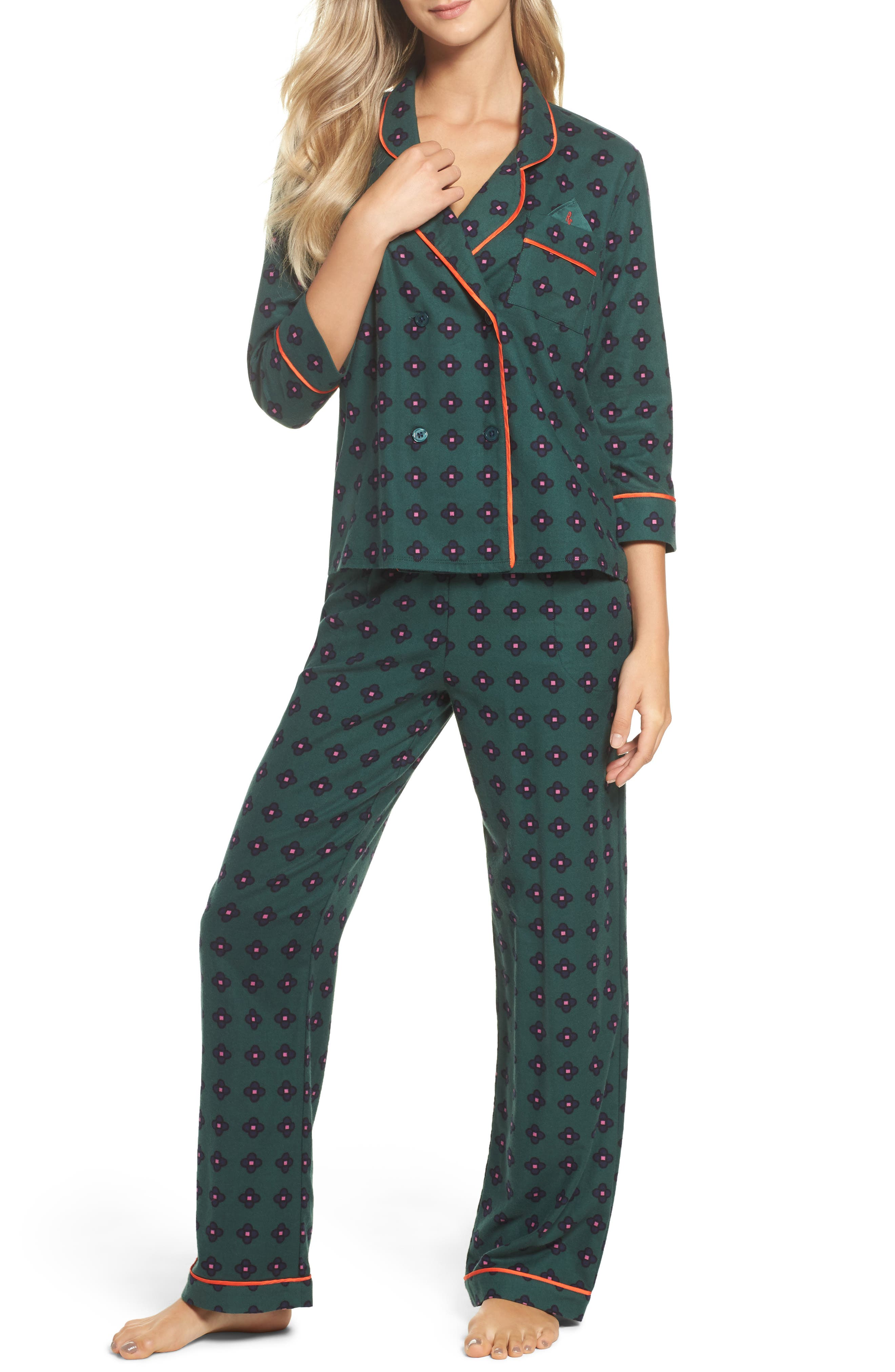Flannel Pajamas,                             Main thumbnail 2, color,