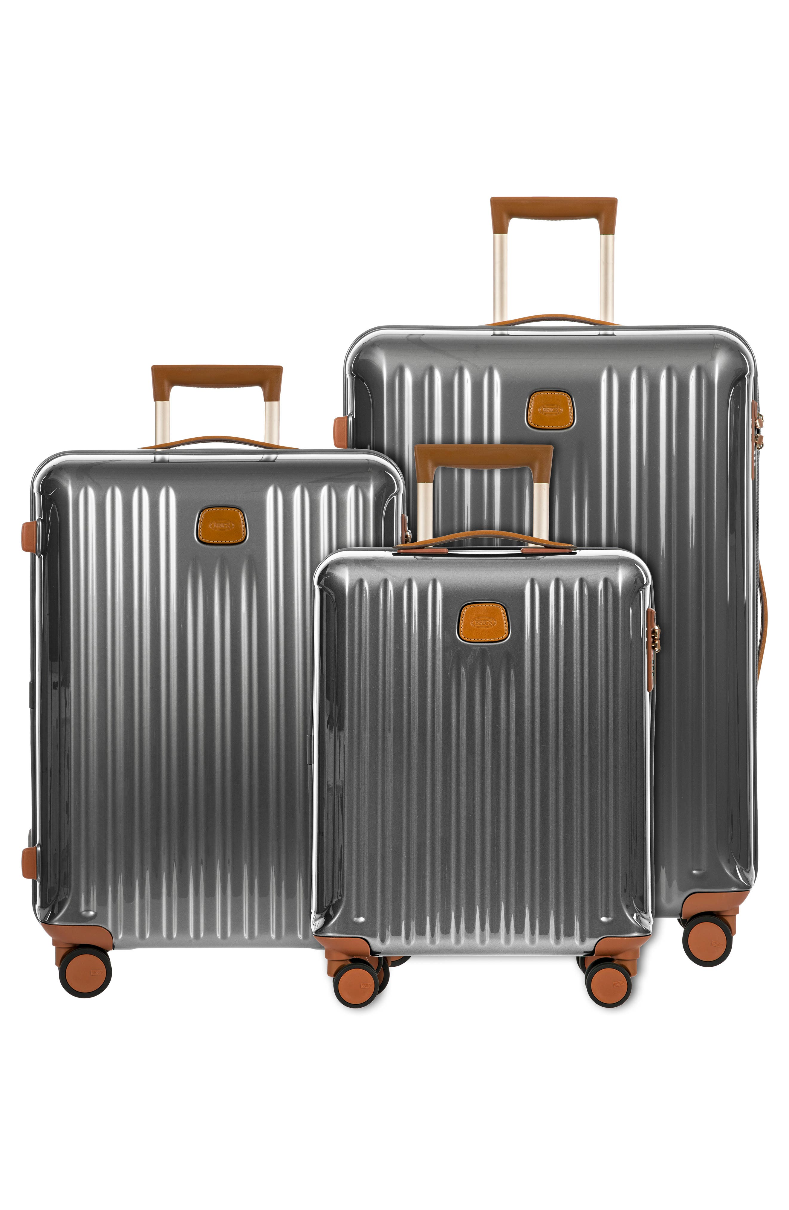 Capri 27-Inch Rolling Suitcase,                             Alternate thumbnail 7, color,                             GREY