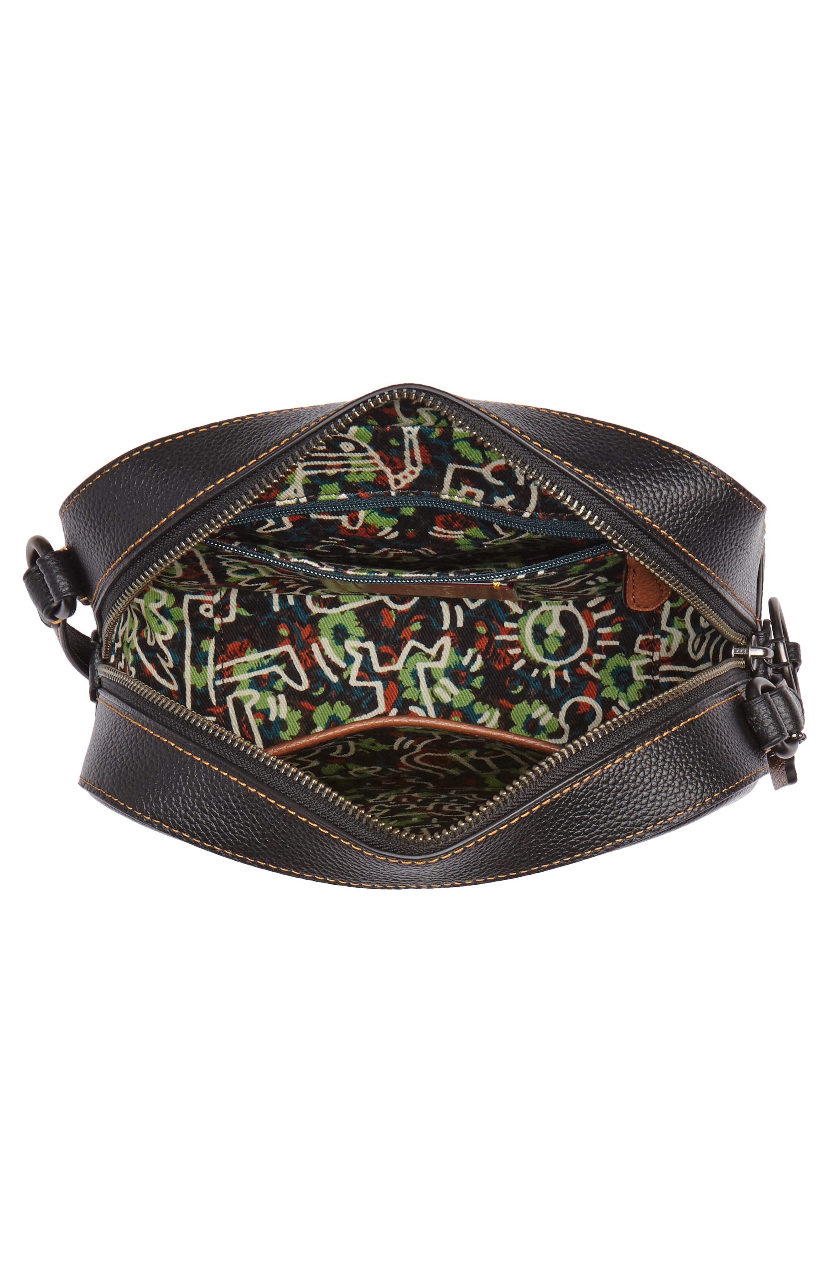 x Keith Haring Barking Crazy Dog Leather Camera Bag,                             Alternate thumbnail 4, color,                             001
