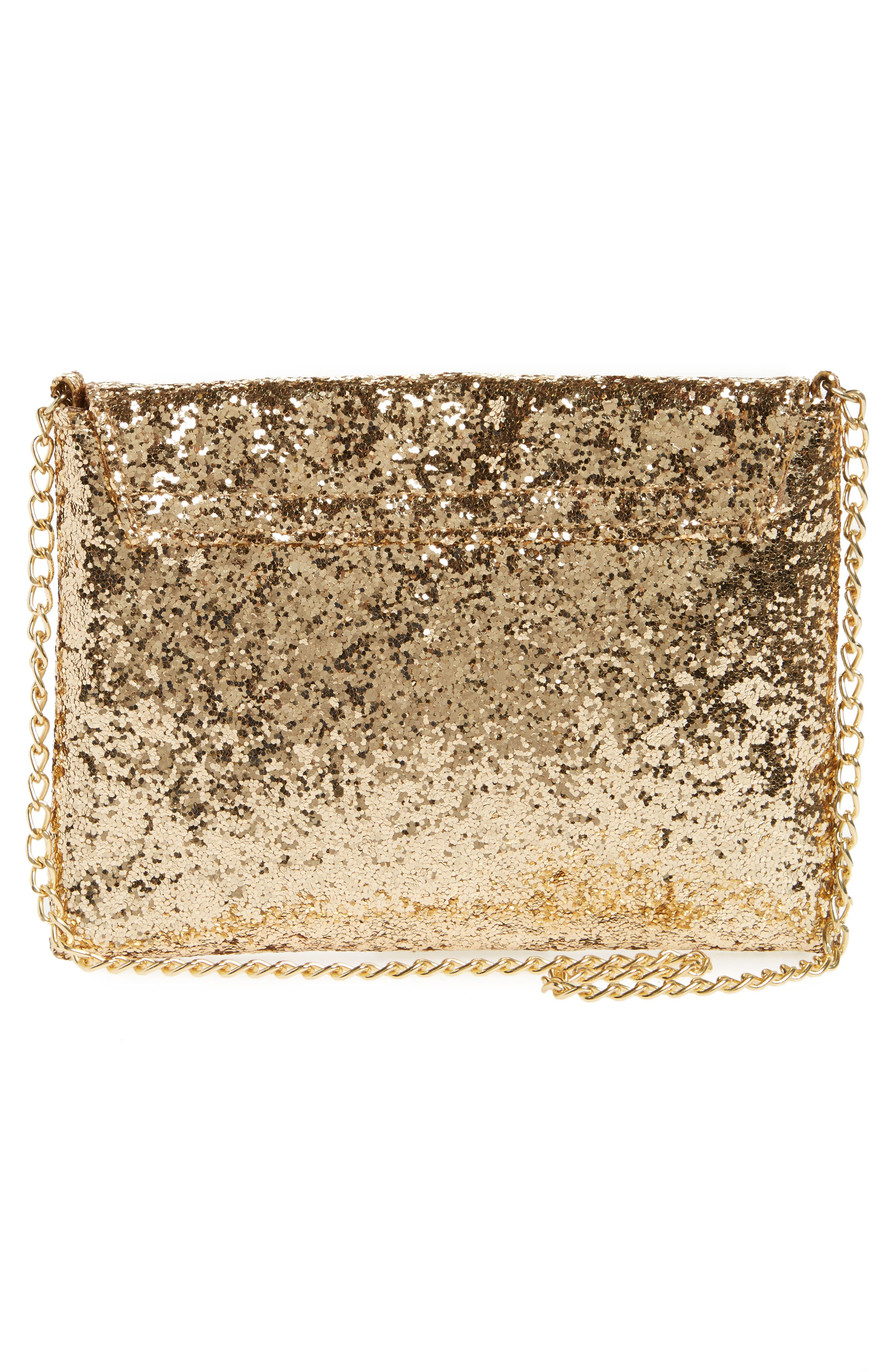 Glitter Rainbow Crossbody Bag,                             Alternate thumbnail 2, color,                             GOLD COMBO
