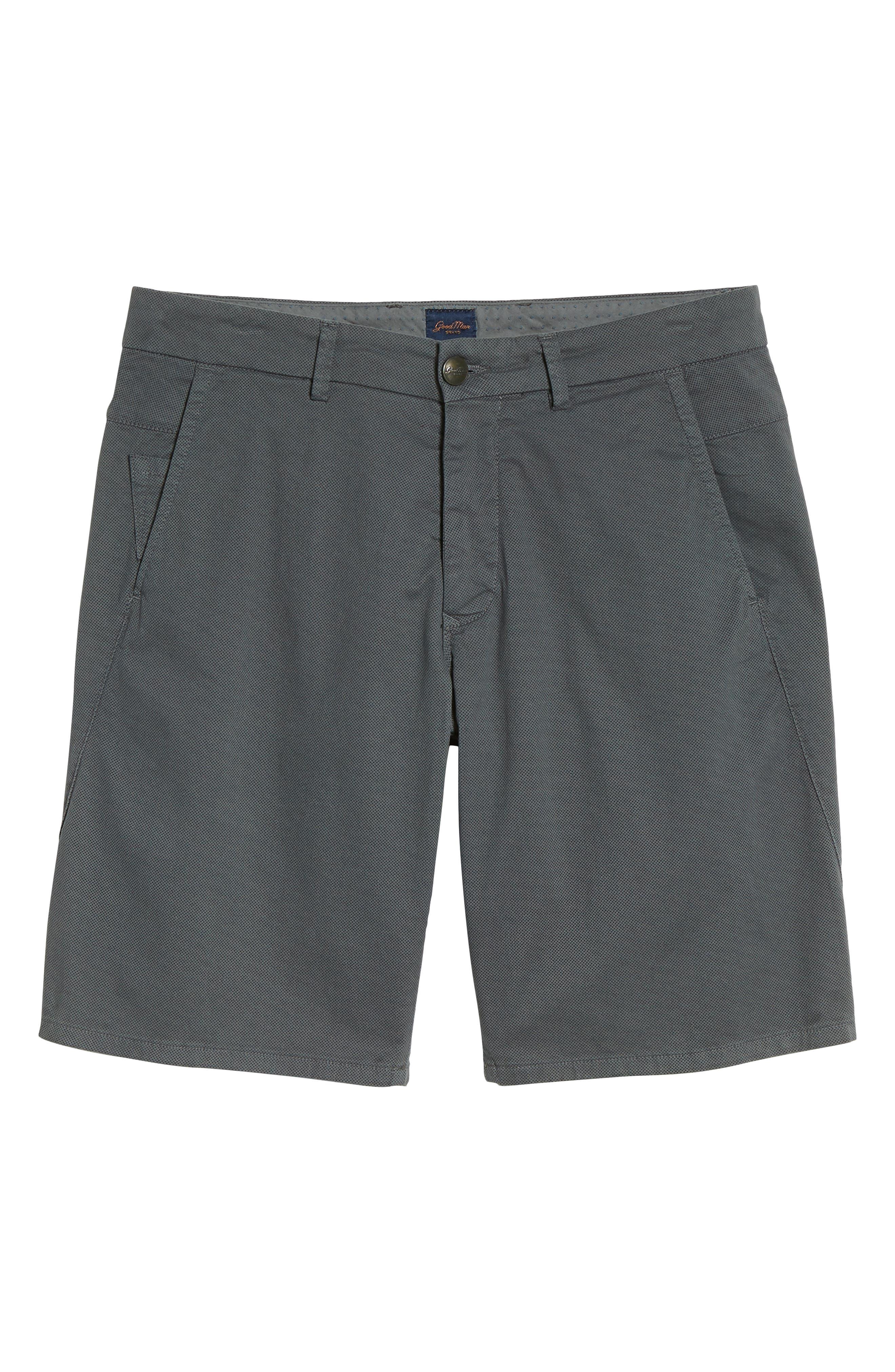 Wrap Microdot Stretch Chino Shorts,                             Alternate thumbnail 6, color,                             051