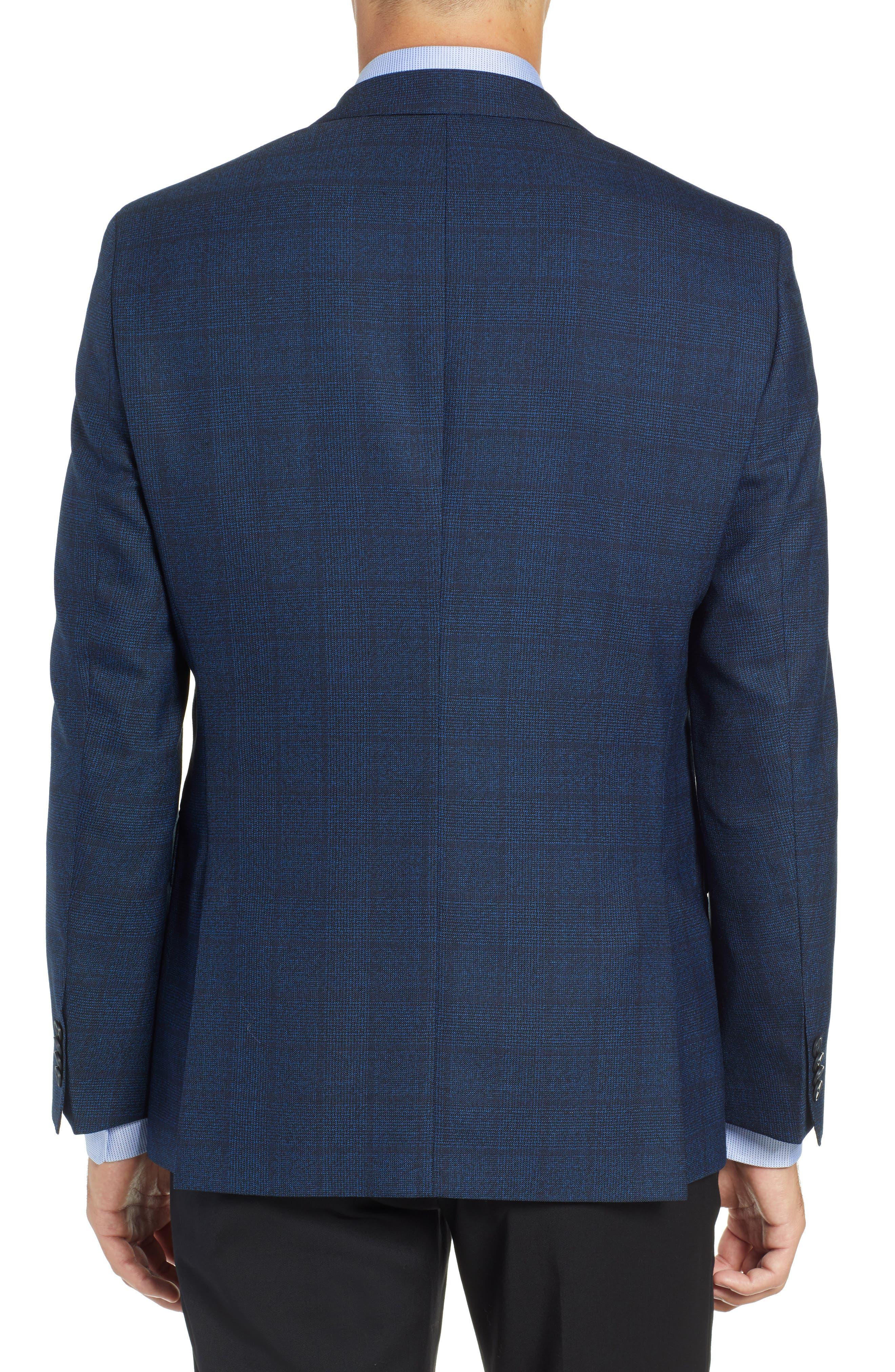 Jewels Classic Fit Plaid Wool Sport Coat,                             Alternate thumbnail 2, color,                             DARK BLUE