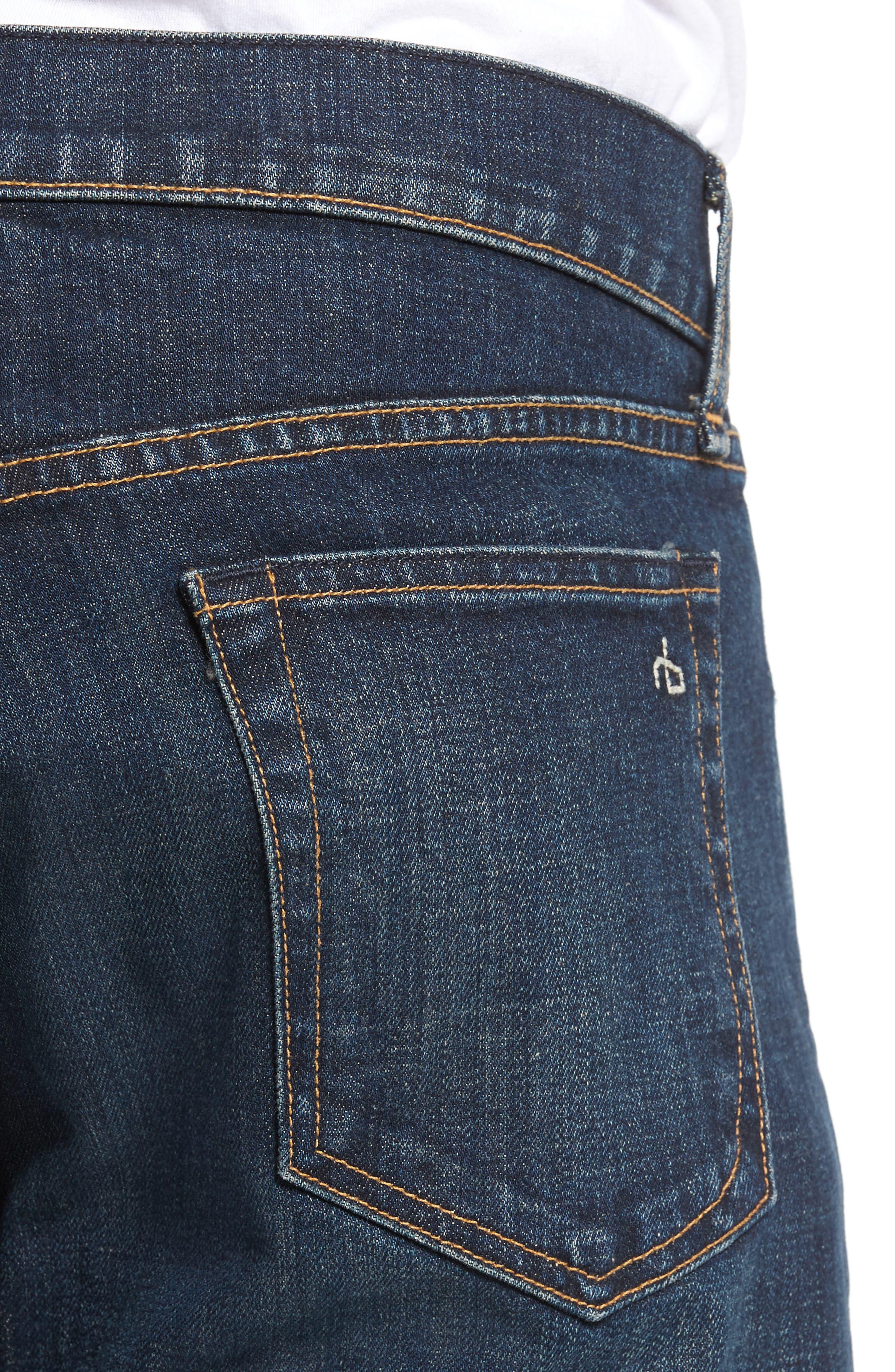 Fit 3 Slim Straight Leg Jeans,                             Alternate thumbnail 4, color,                             404