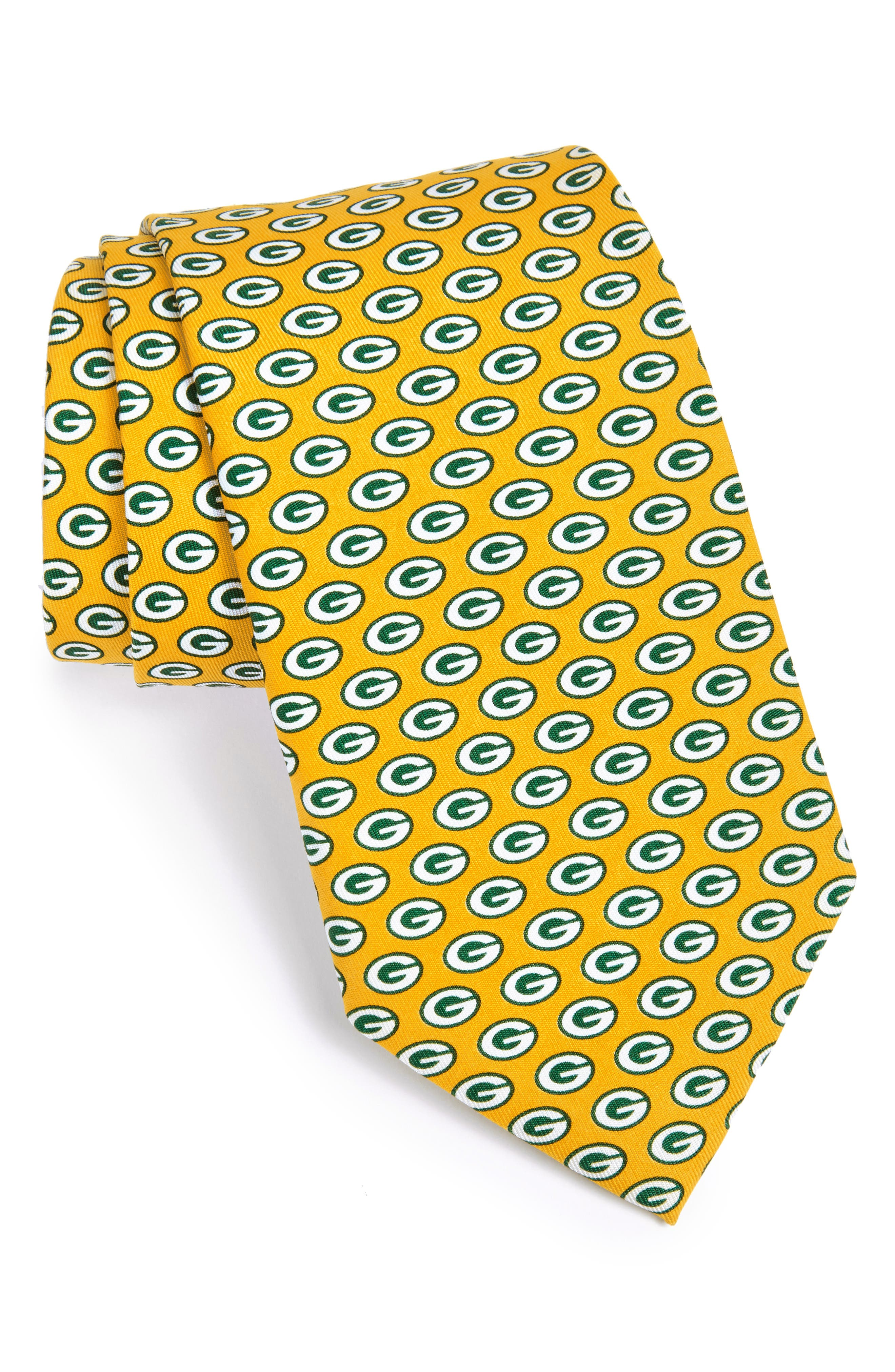 Green Bay Packers - NFL Woven Silk Tie,                             Alternate thumbnail 2, color,                             YELLOW