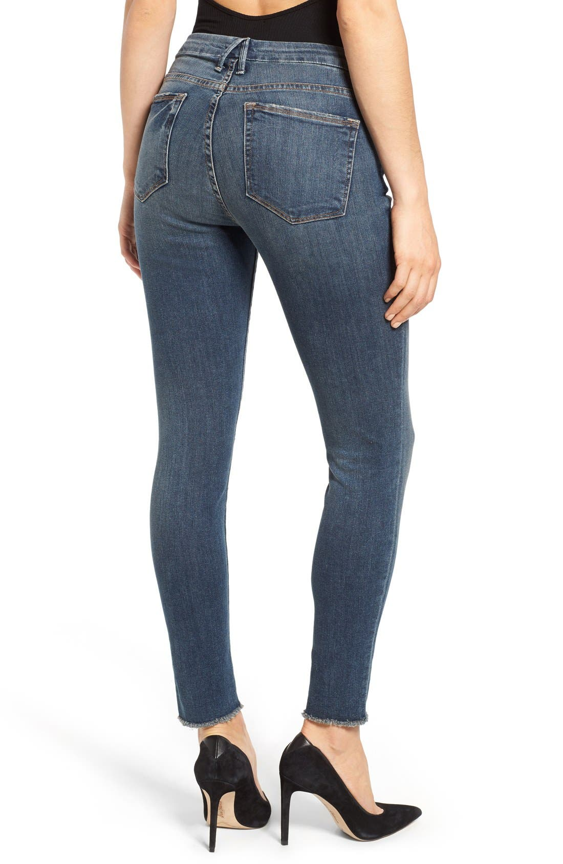 Good Legs High Rise Ripped Skinny Jeans,                             Alternate thumbnail 3, color,                             401