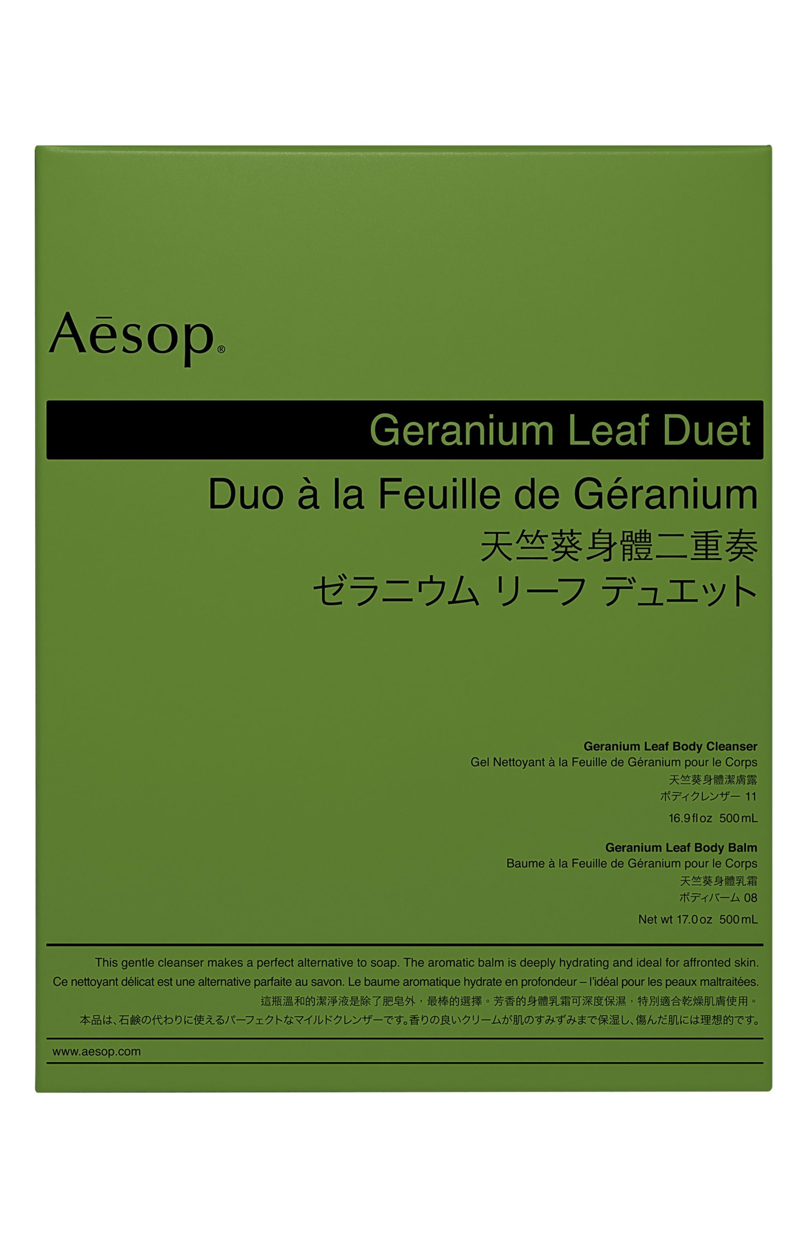 Geranium Leaf Body Cleanser & Body Balm Duet,                             Alternate thumbnail 2, color,                             NONE