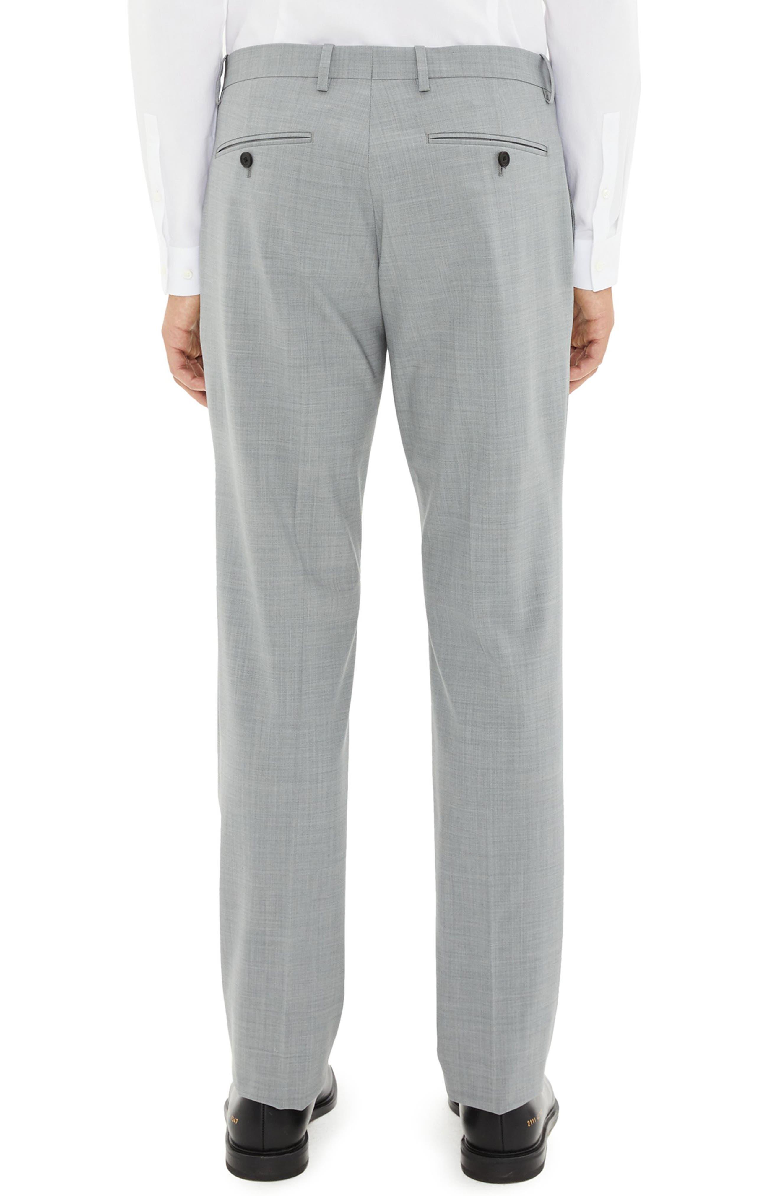 Mayer New Tailor 2 Wool Trousers,                             Alternate thumbnail 2, color,                             CHROME MELANGE